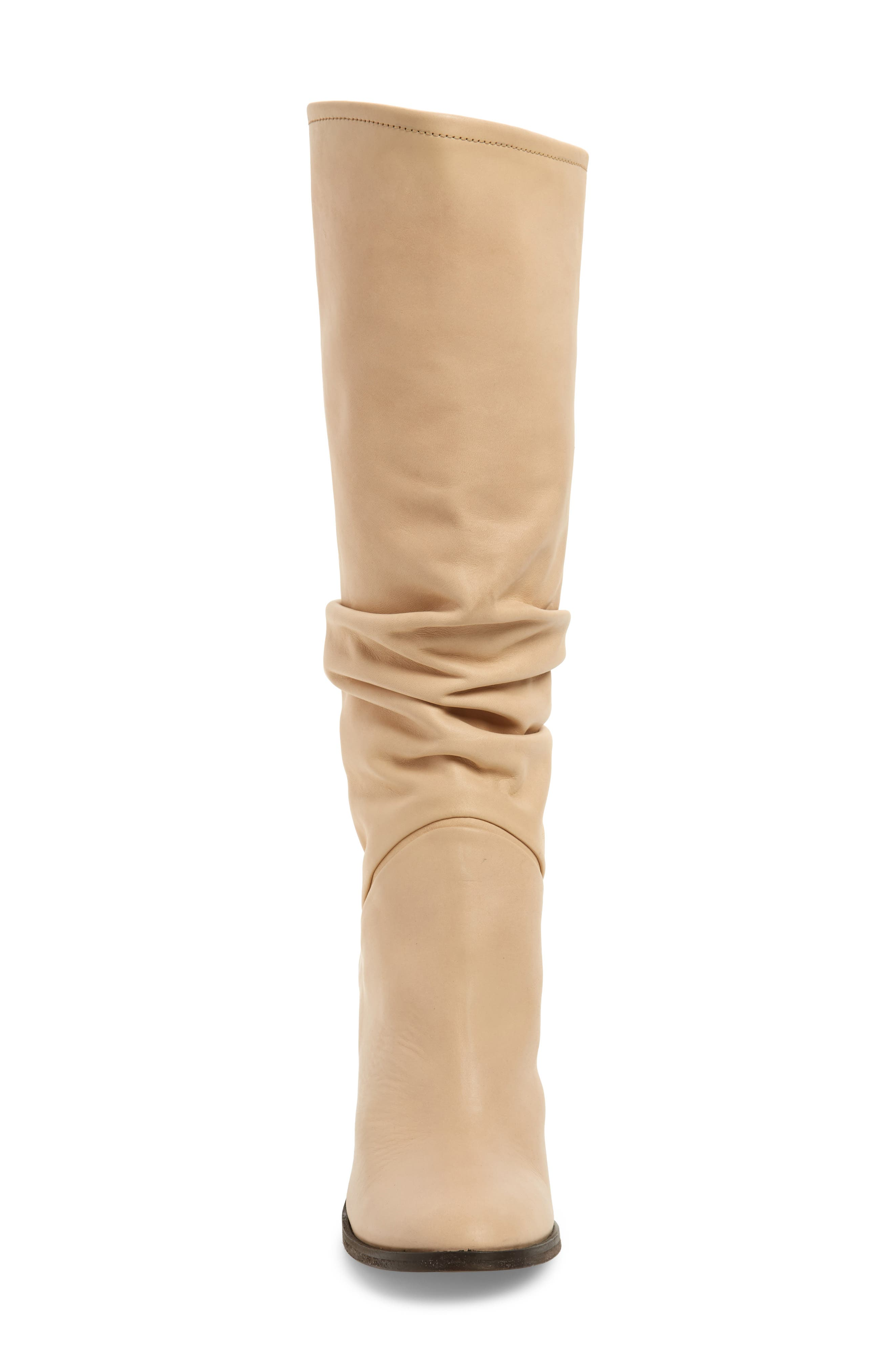 Tennison Knee High Boot,                             Alternate thumbnail 4, color,                             BEIGE LEATHER