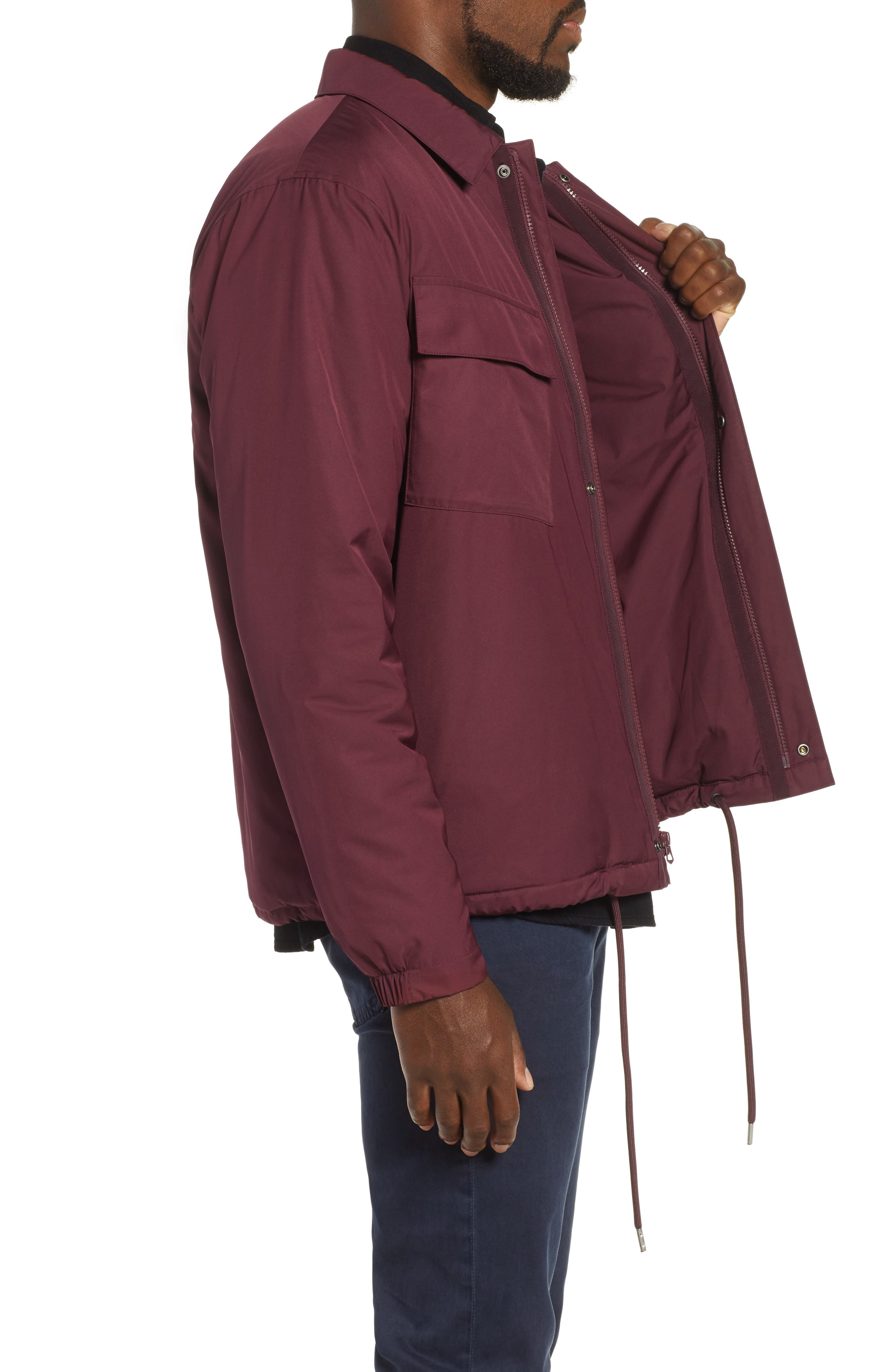 Coaches Jacket,                             Alternate thumbnail 3, color,                             BURGUNDY