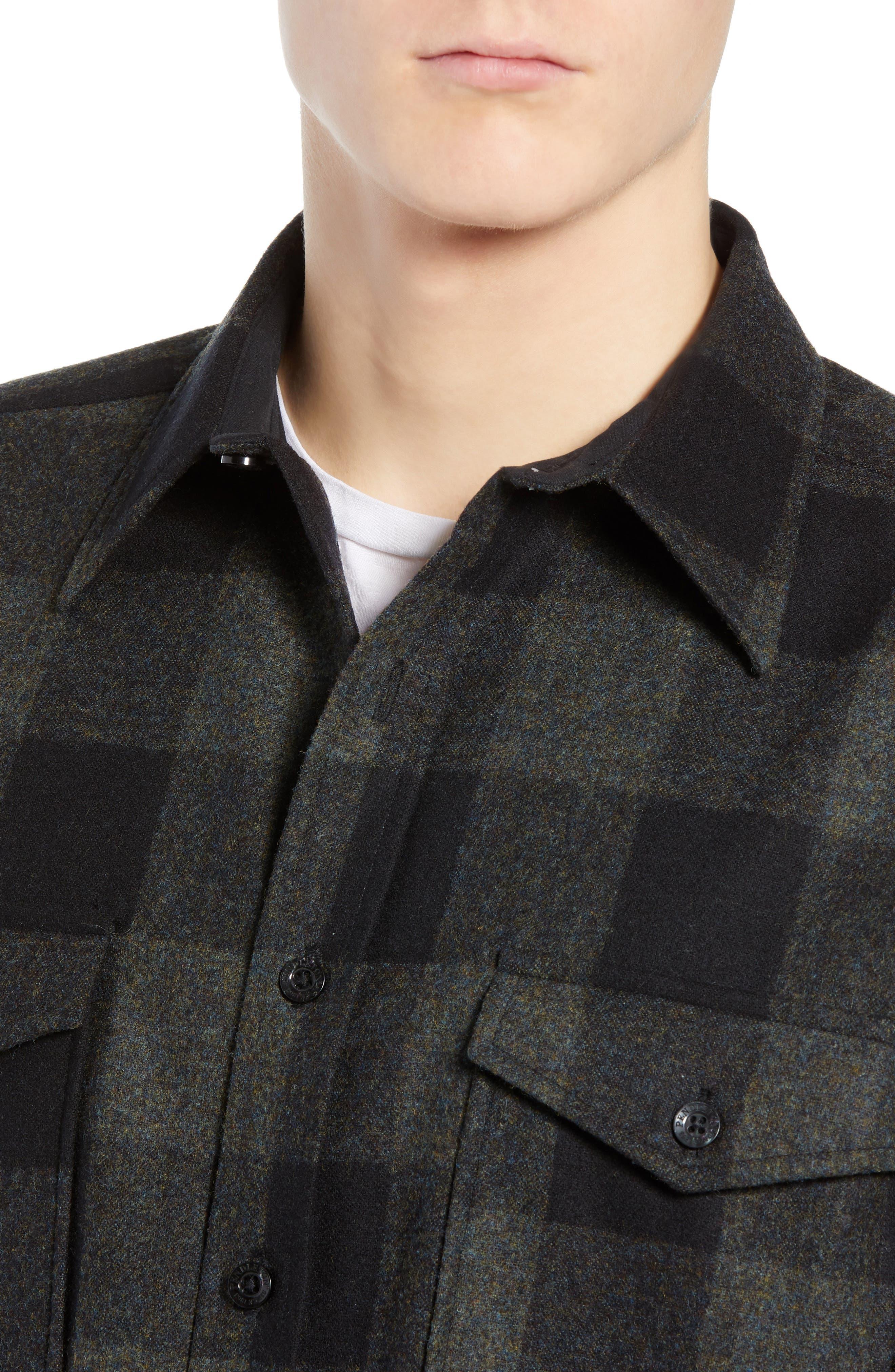 Guide Wool Shirt,                             Alternate thumbnail 2, color,                             BLUE GREEN BUFFALO CHECK