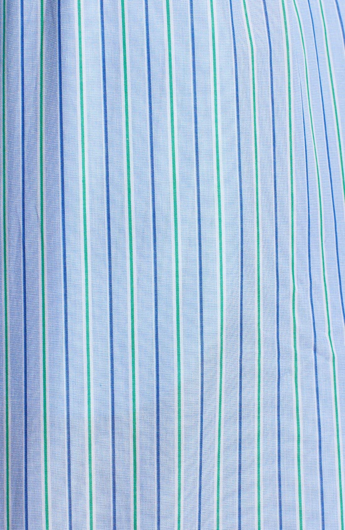 Cotton Pajama Shorts,                             Alternate thumbnail 3, color,                             BARI STRIPE