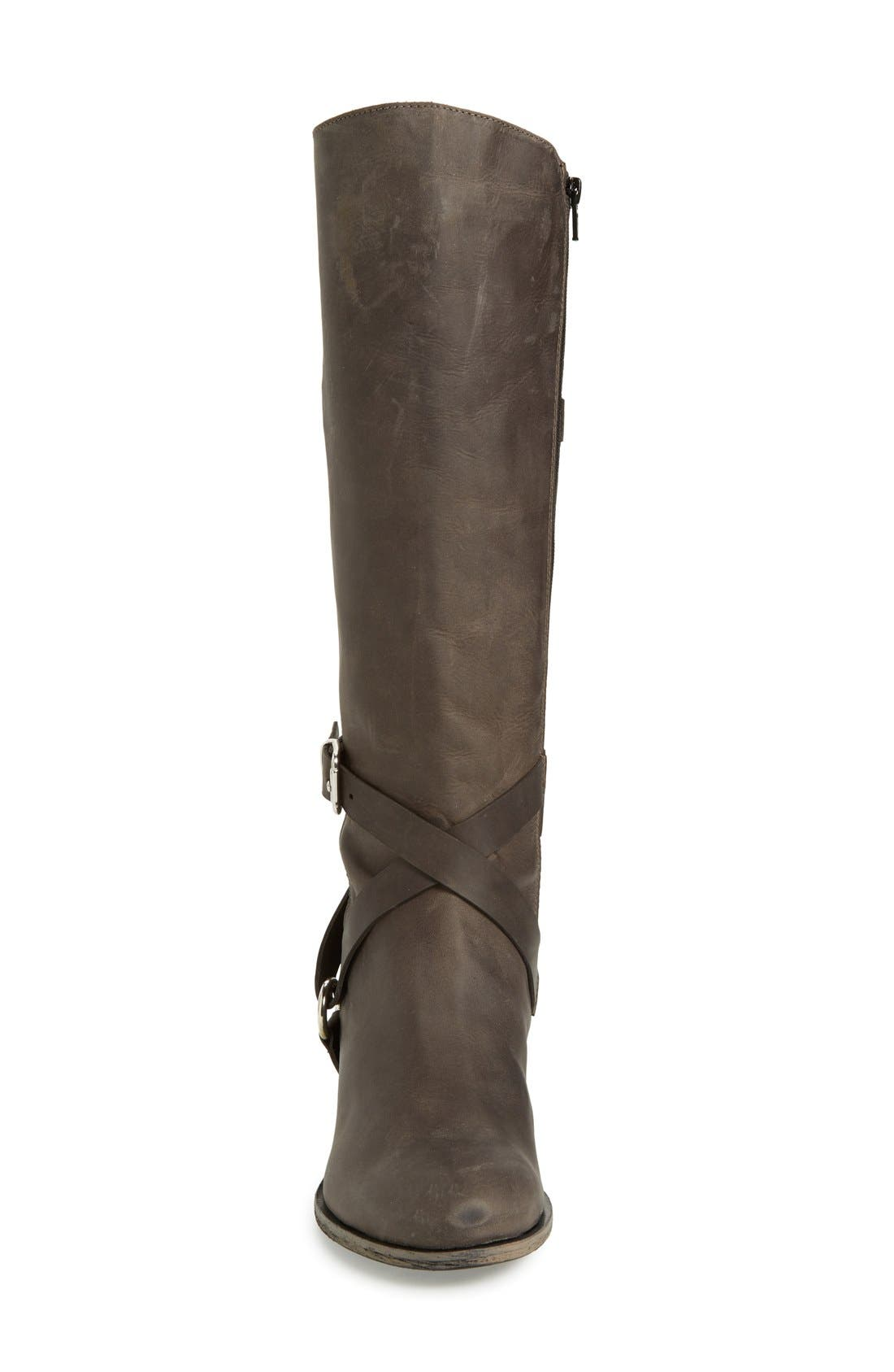 'Germana' Riding Boot,                             Alternate thumbnail 4, color,                             001