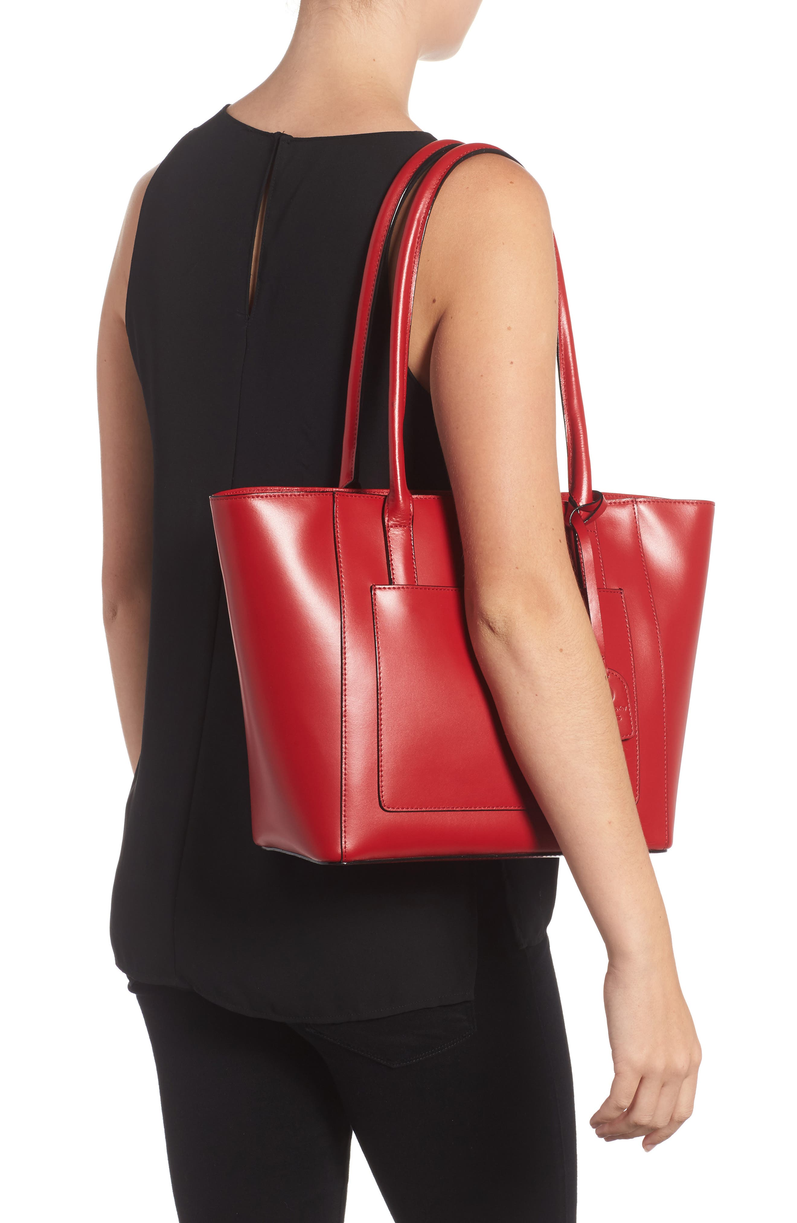 Audrey Under Lock & Key - Medium Margaret RFID Leather Tote with Zip Pouch,                             Alternate thumbnail 8, color,