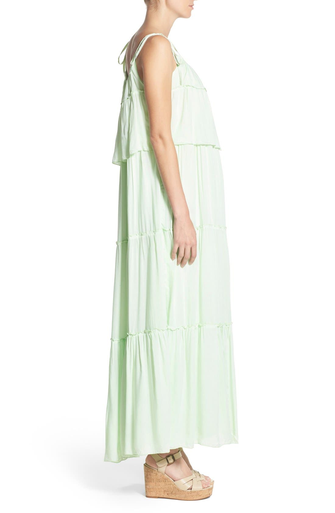 'Songbird' Popover Maternity/Nursing Maxi Dress,                             Alternate thumbnail 2, color,                             MINT