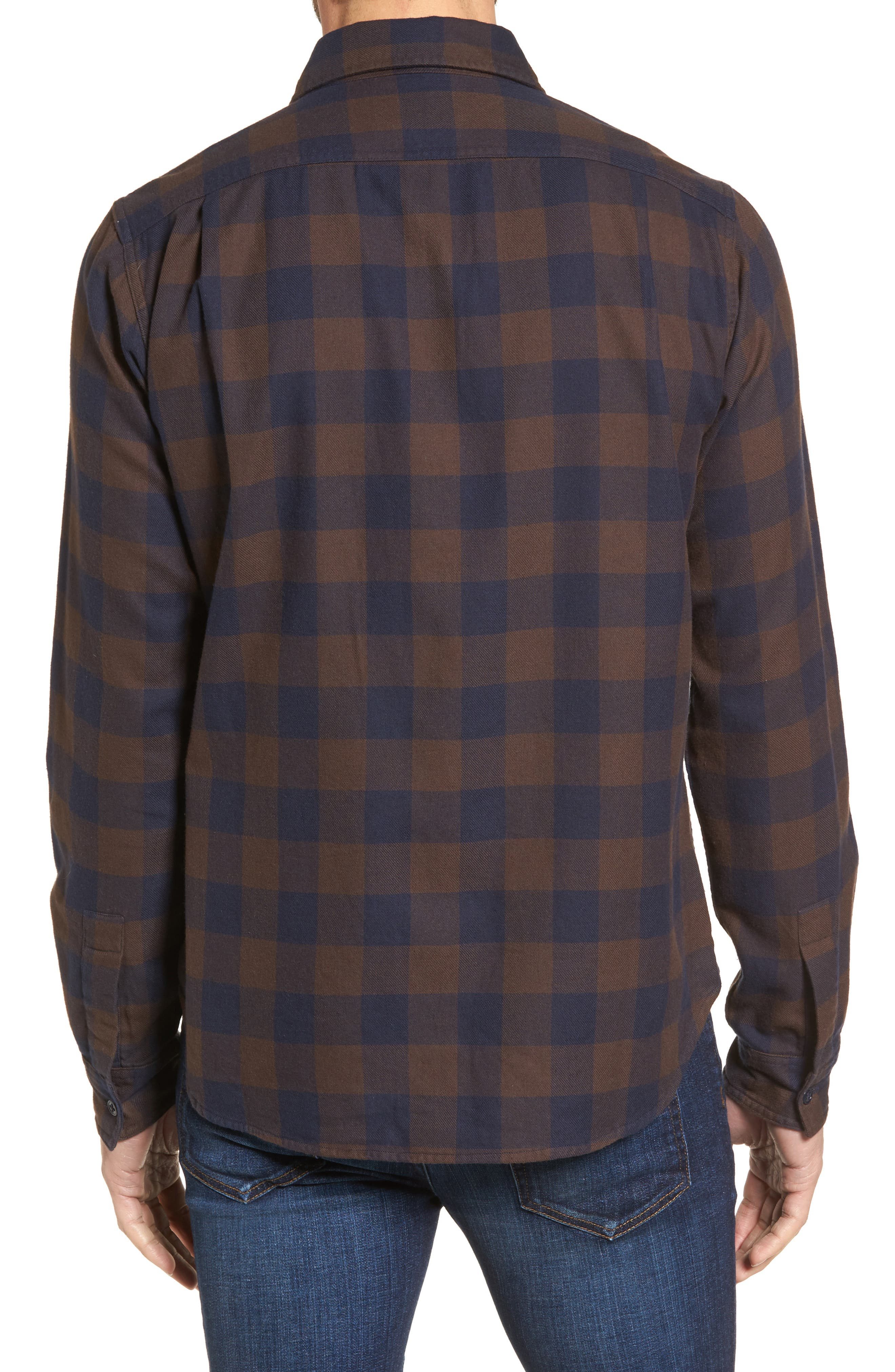 Slim Fit Check Flannel Shirt,                             Alternate thumbnail 2, color,                             400