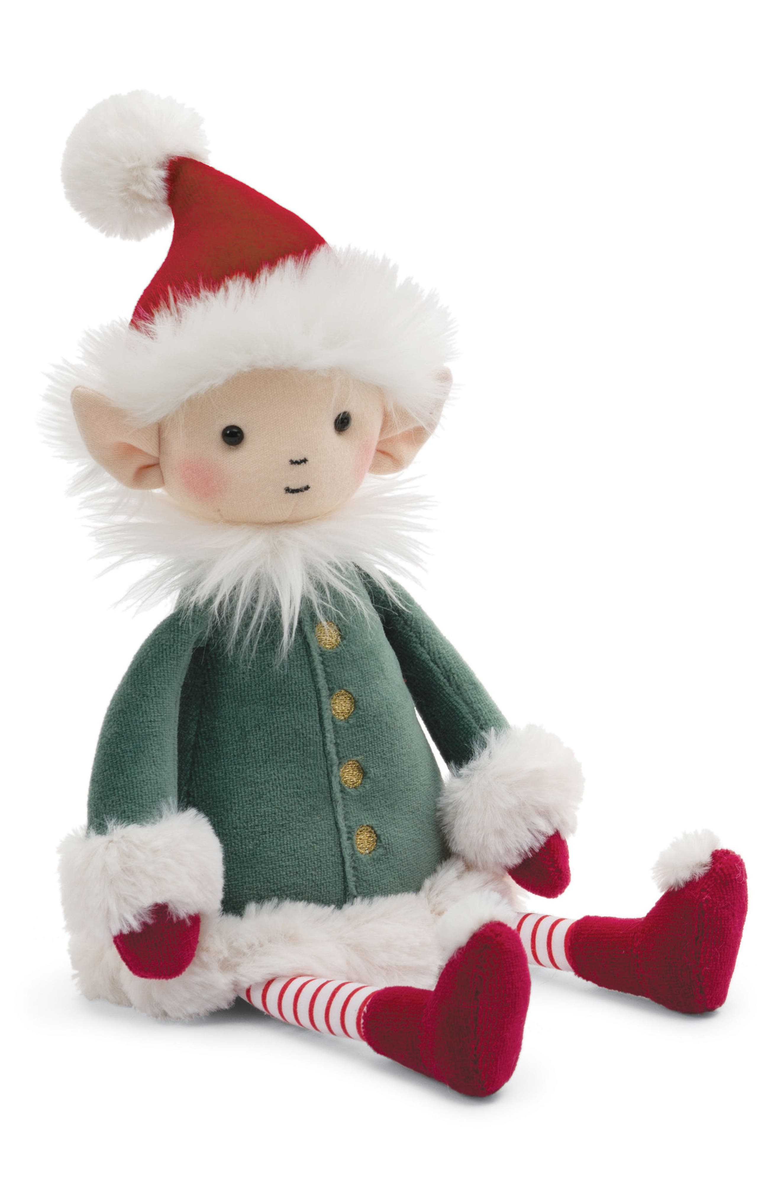 Elf Stuffed Doll,                             Alternate thumbnail 3, color,                             GREEN/ RED