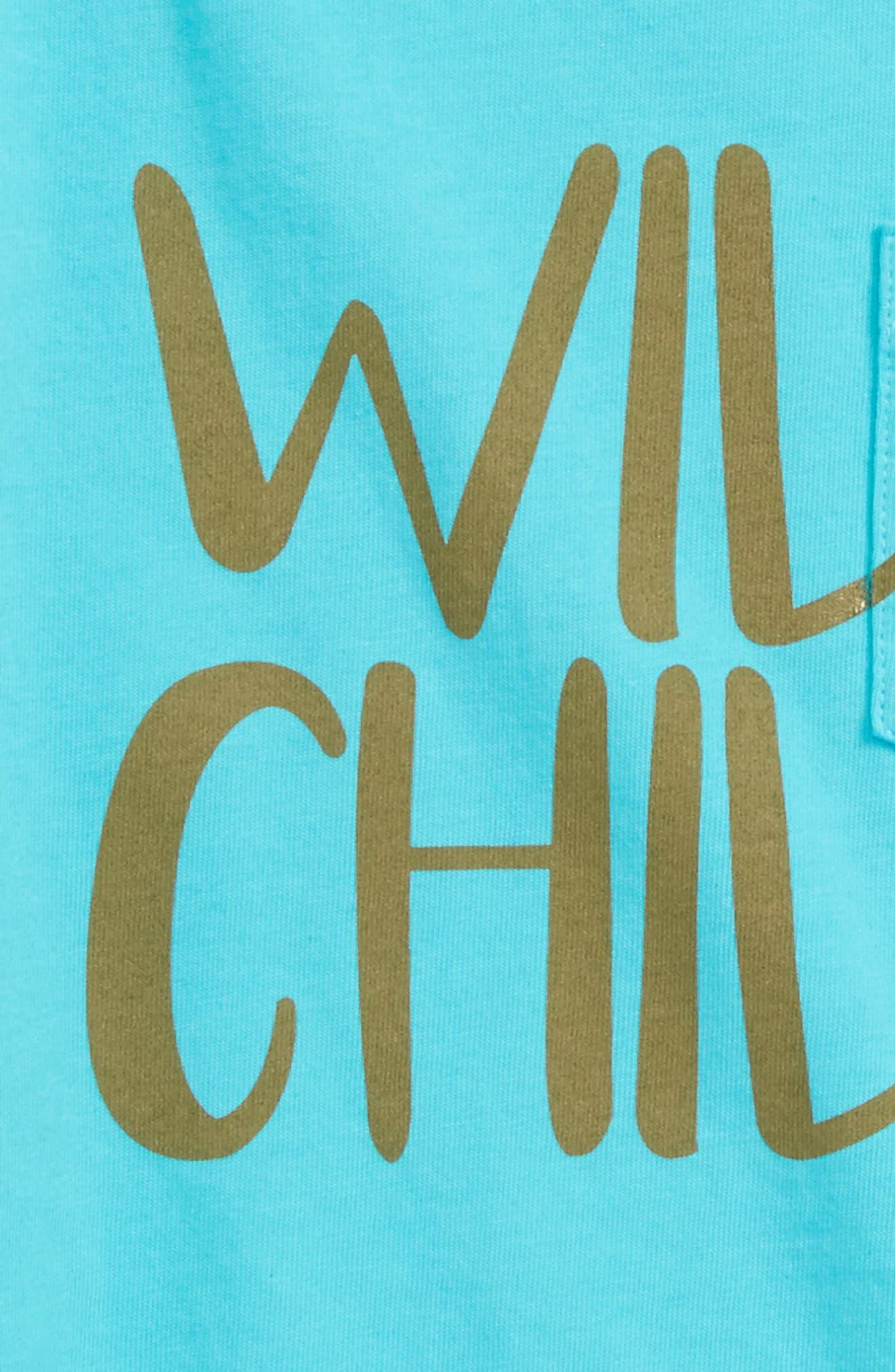Wild Child Organic Cotton Tee,                             Alternate thumbnail 3, color,                             465