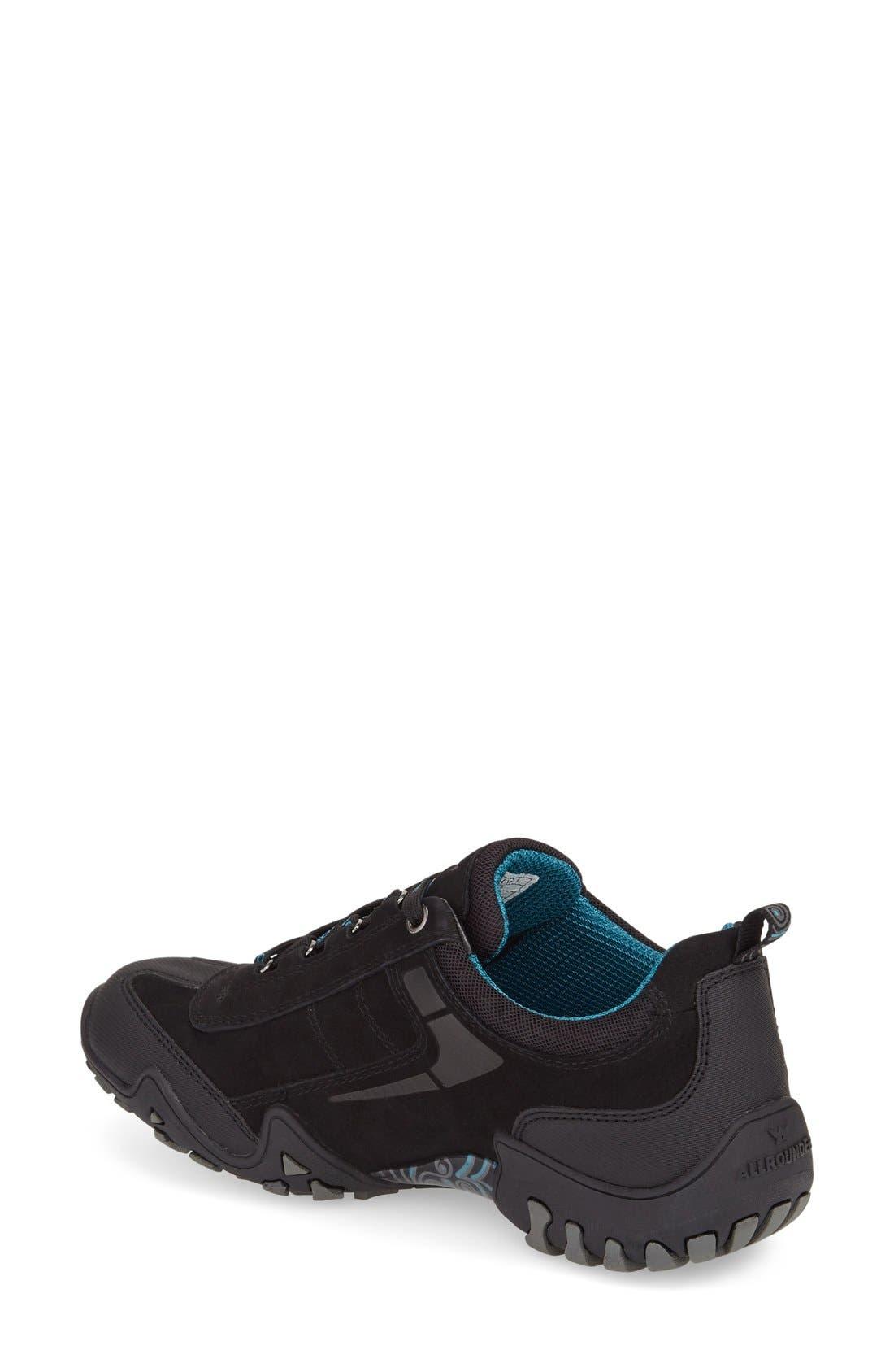 'Fina-Tex' Sneaker,                             Alternate thumbnail 2, color,                             BLACK SUEDE