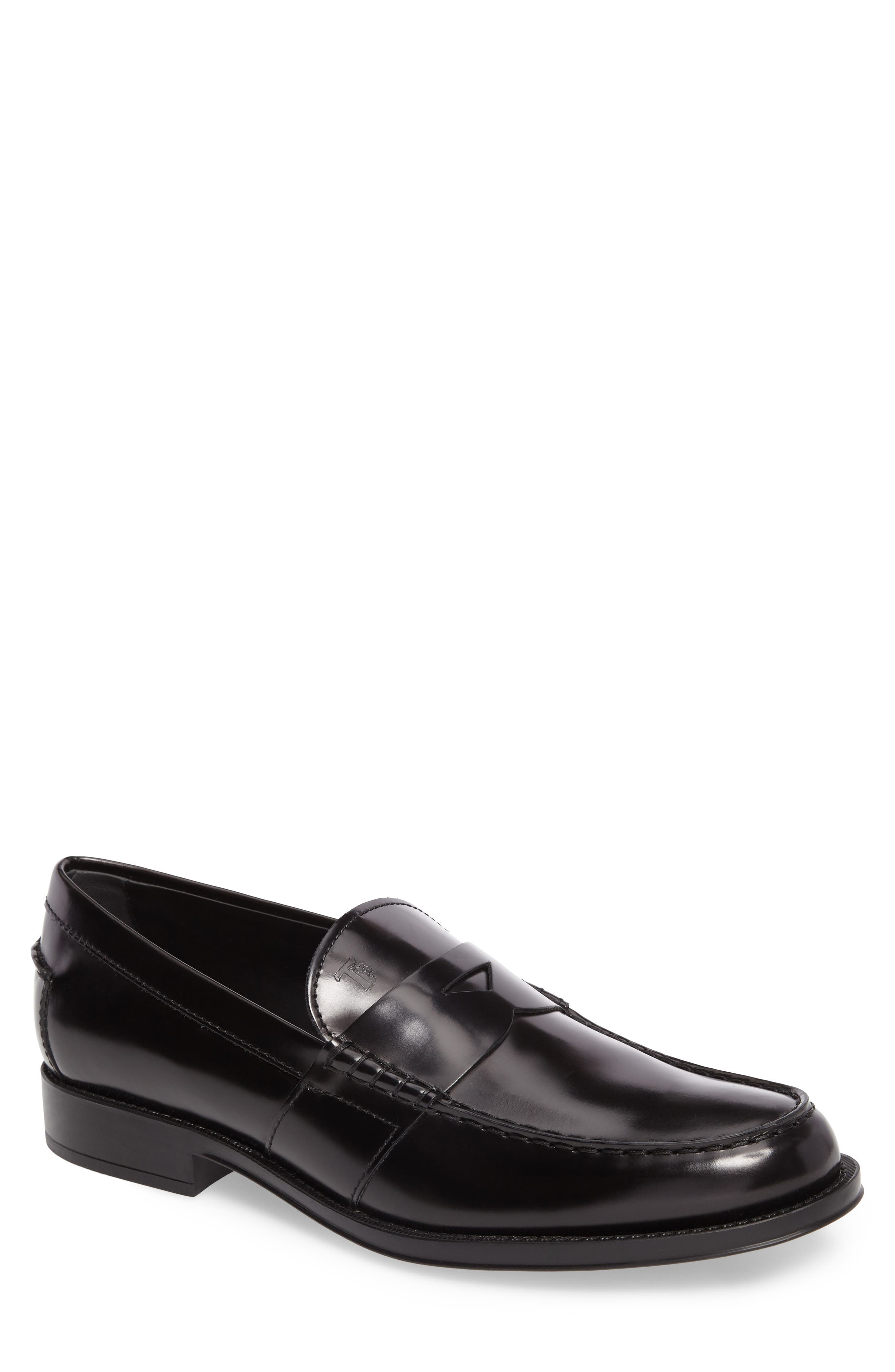 Tods Penny Loafer,                         Main,                         color, 001