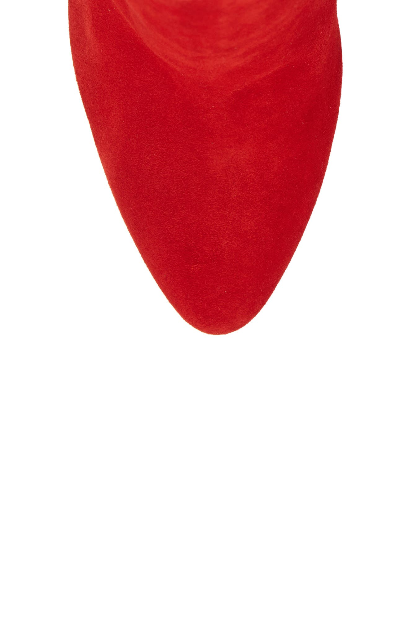 Eloise Almond Toe Bootie,                             Alternate thumbnail 5, color,                             LOUBI RED