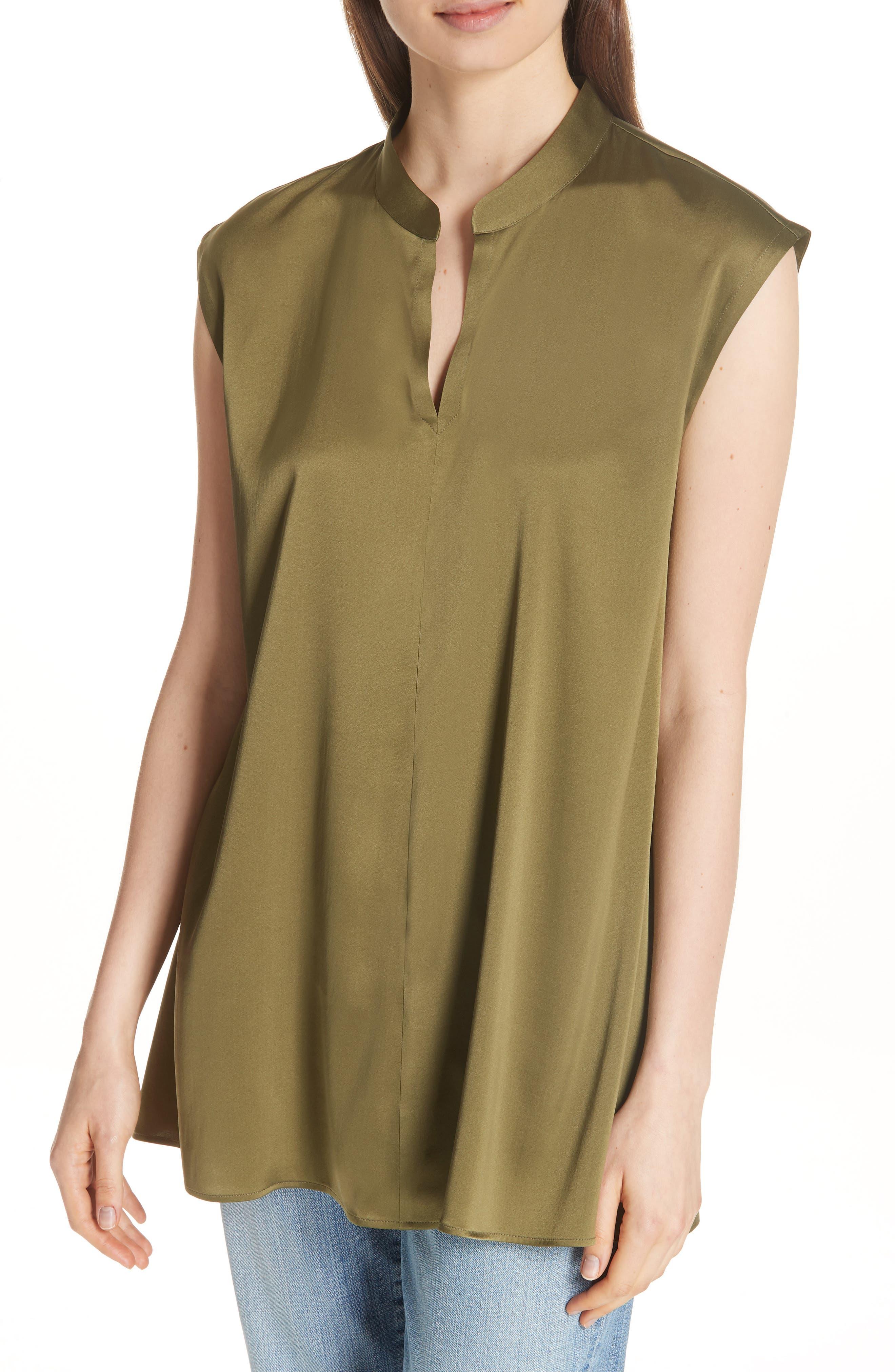 Stretch Silk Top,                         Main,                         color, 301