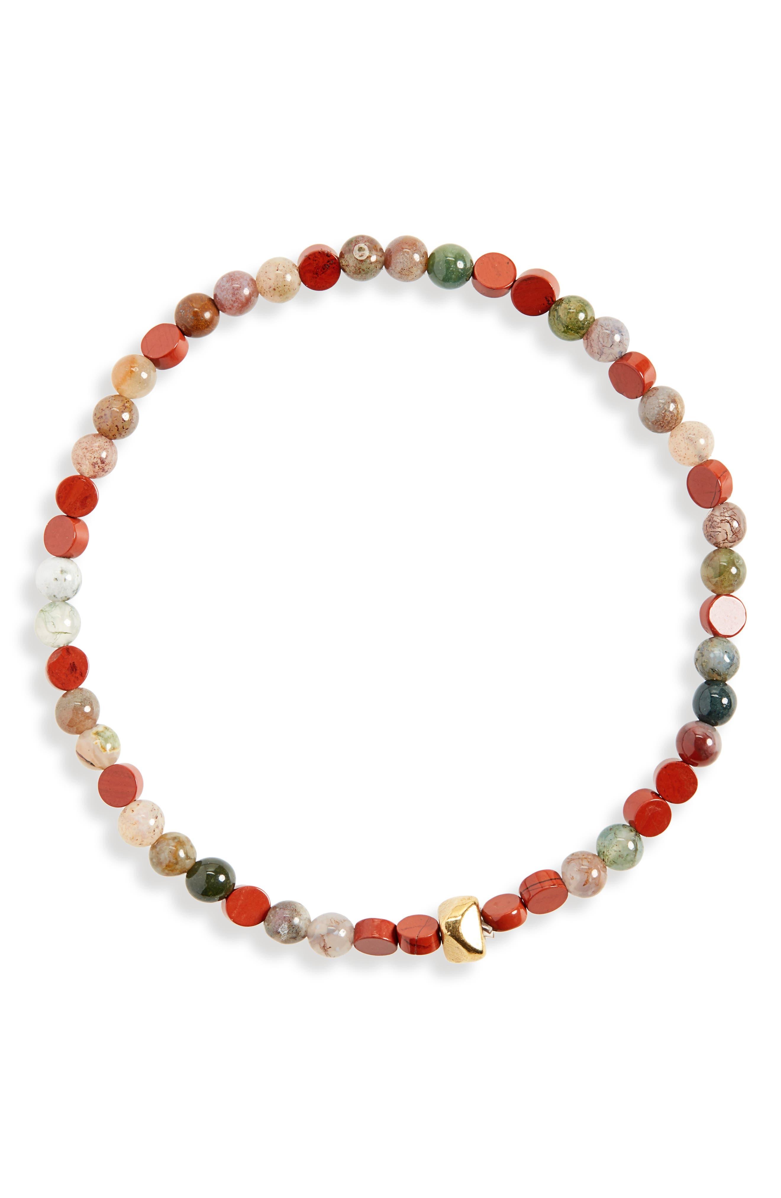 Love Morse Bracelet,                             Main thumbnail 1, color,                             RED
