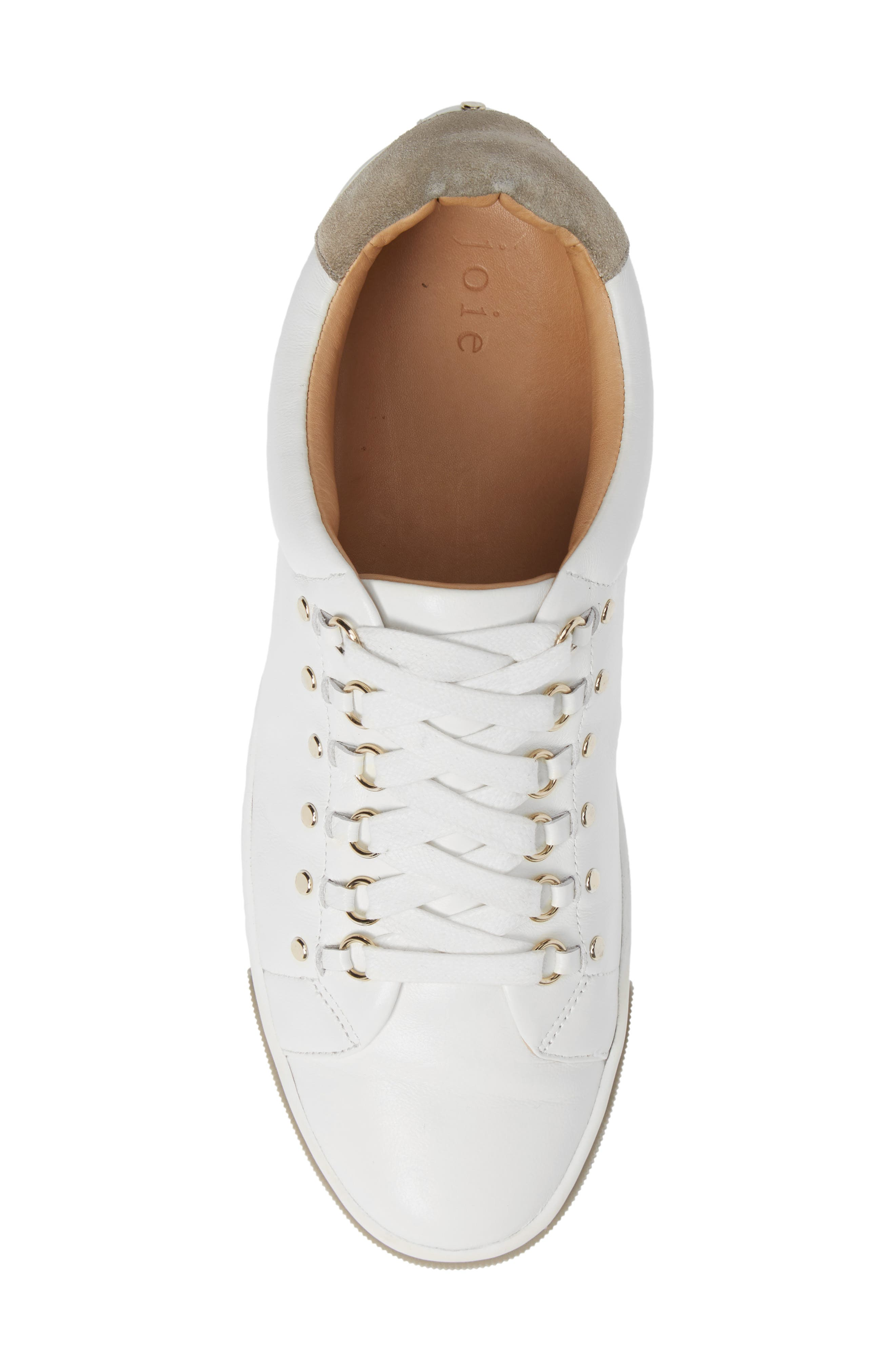 Handan Lace-Up Sneaker,                             Alternate thumbnail 5, color,                             WHITE