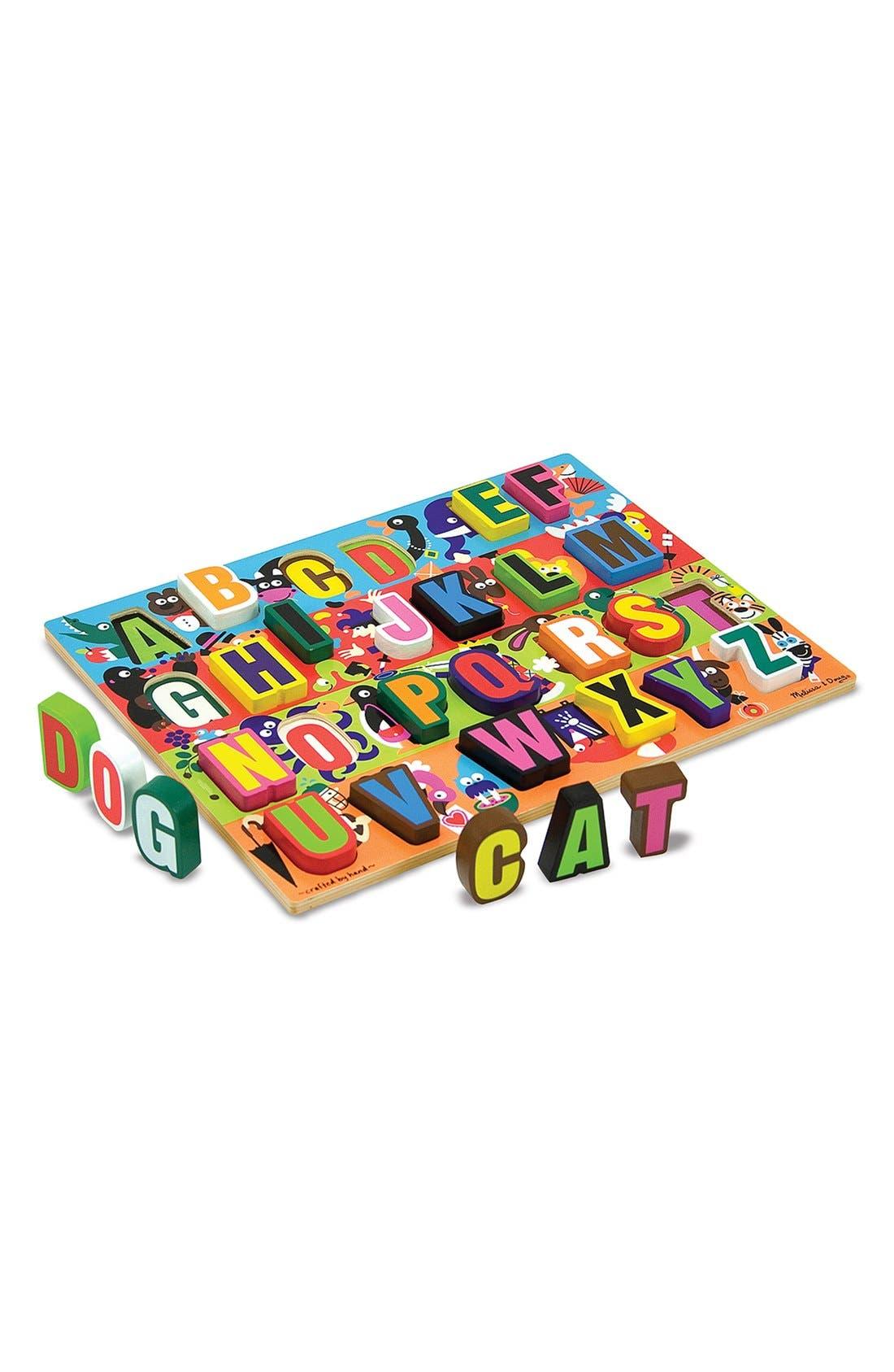 'Jumbo ABC' Chunky Puzzle,                             Main thumbnail 1, color,                             RED MULTI