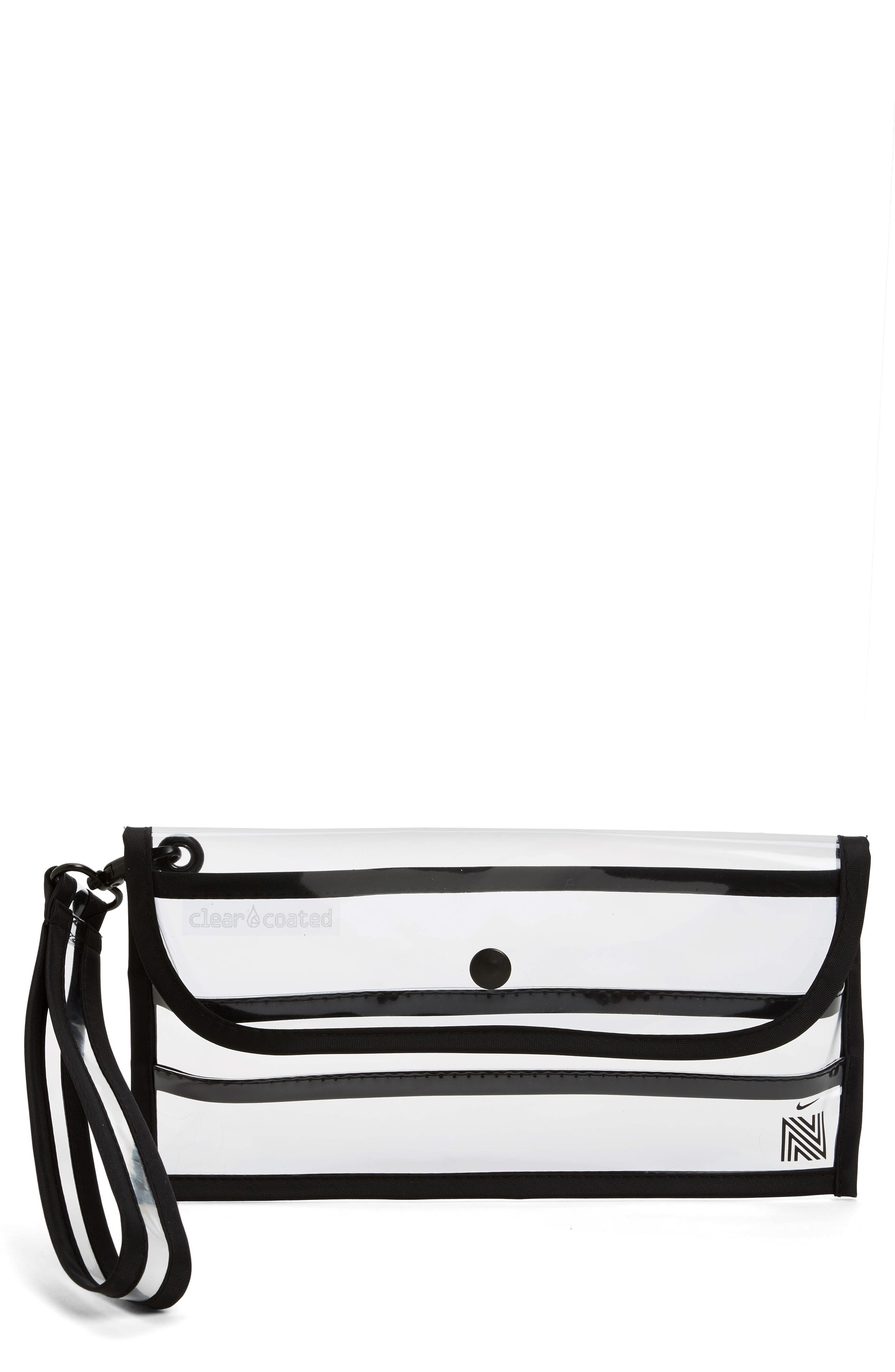 Clear Coated Nordstrom x Nike Translucent Wristlet Clutch,                             Main thumbnail 1, color,                             960