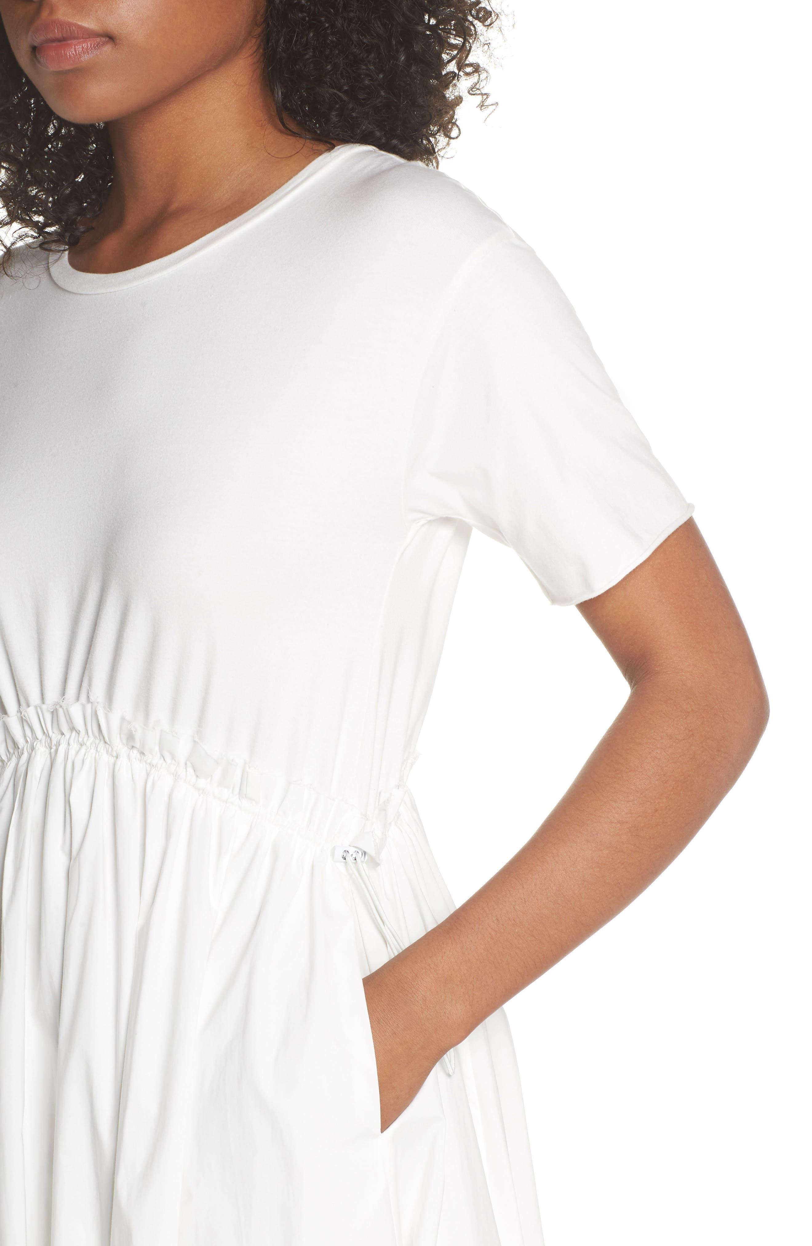 Tie Back Midi Dress,                             Alternate thumbnail 4, color,                             100