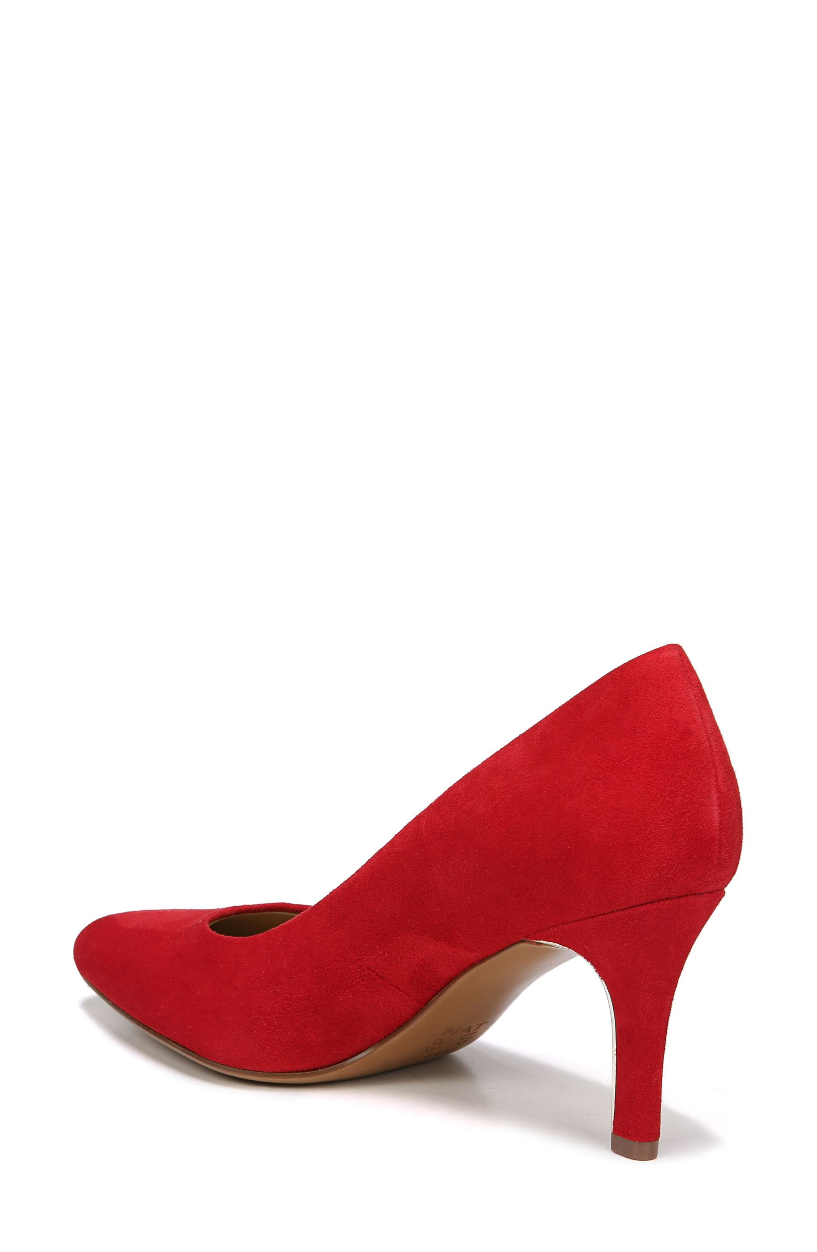 NATURALIZER,                             Natalie Pointy Toe Pump,                             Alternate thumbnail 2, color,                             RED SUEDE