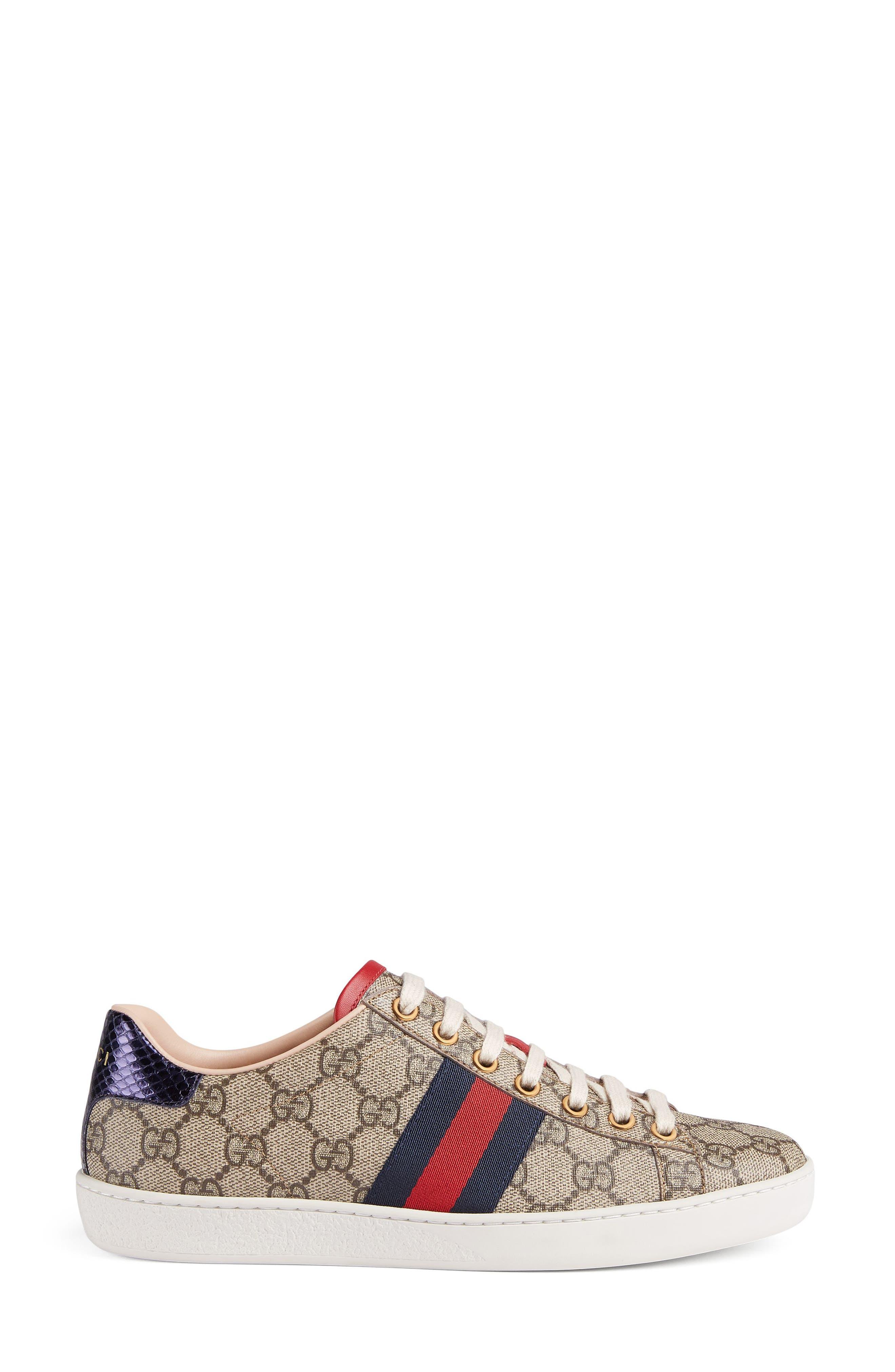 New Ace GG Supreme Sneaker,                             Alternate thumbnail 2, color,                             BEIGE