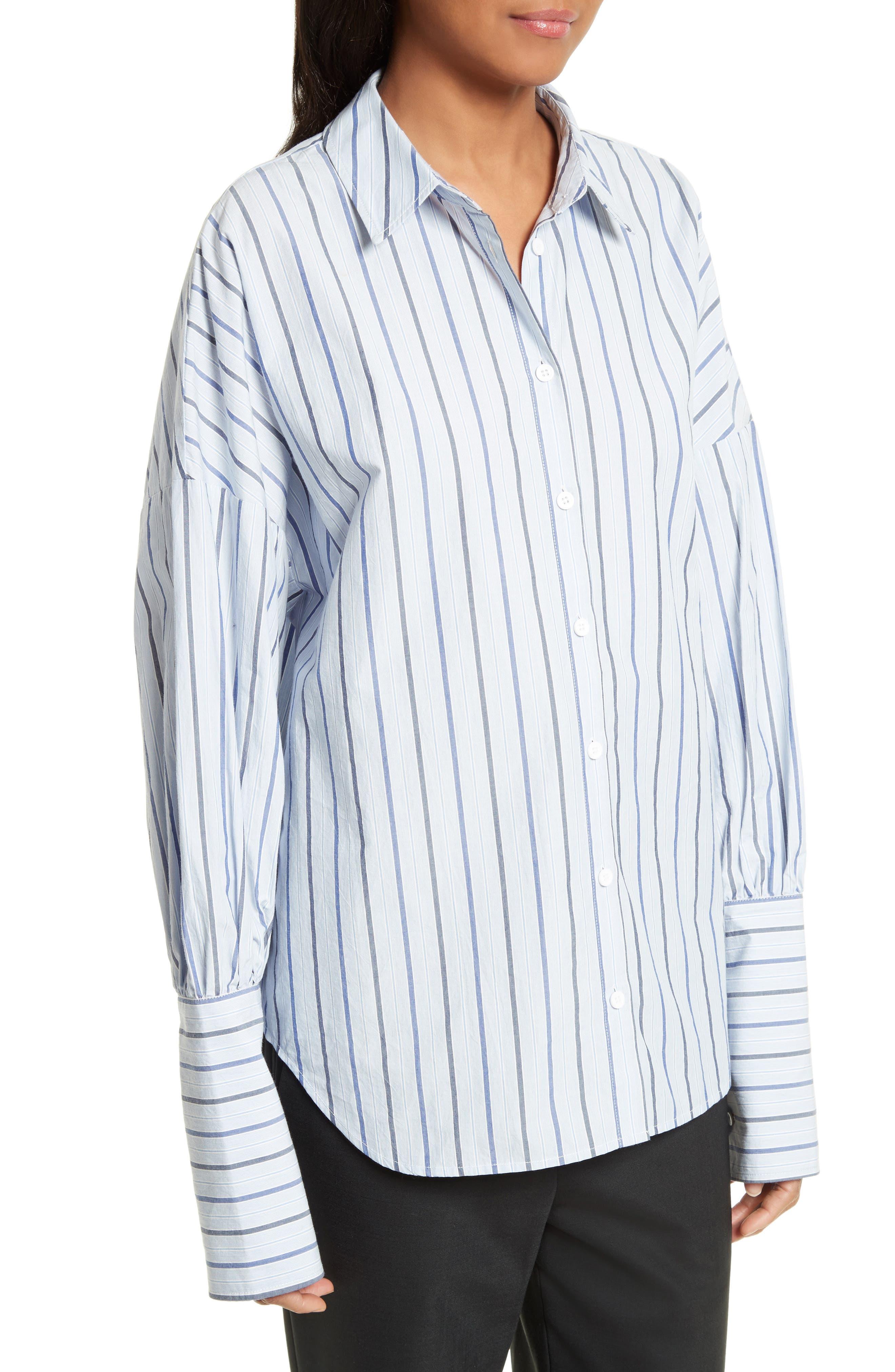 Garçon Stripe Easy Shirt,                             Alternate thumbnail 4, color,                             402