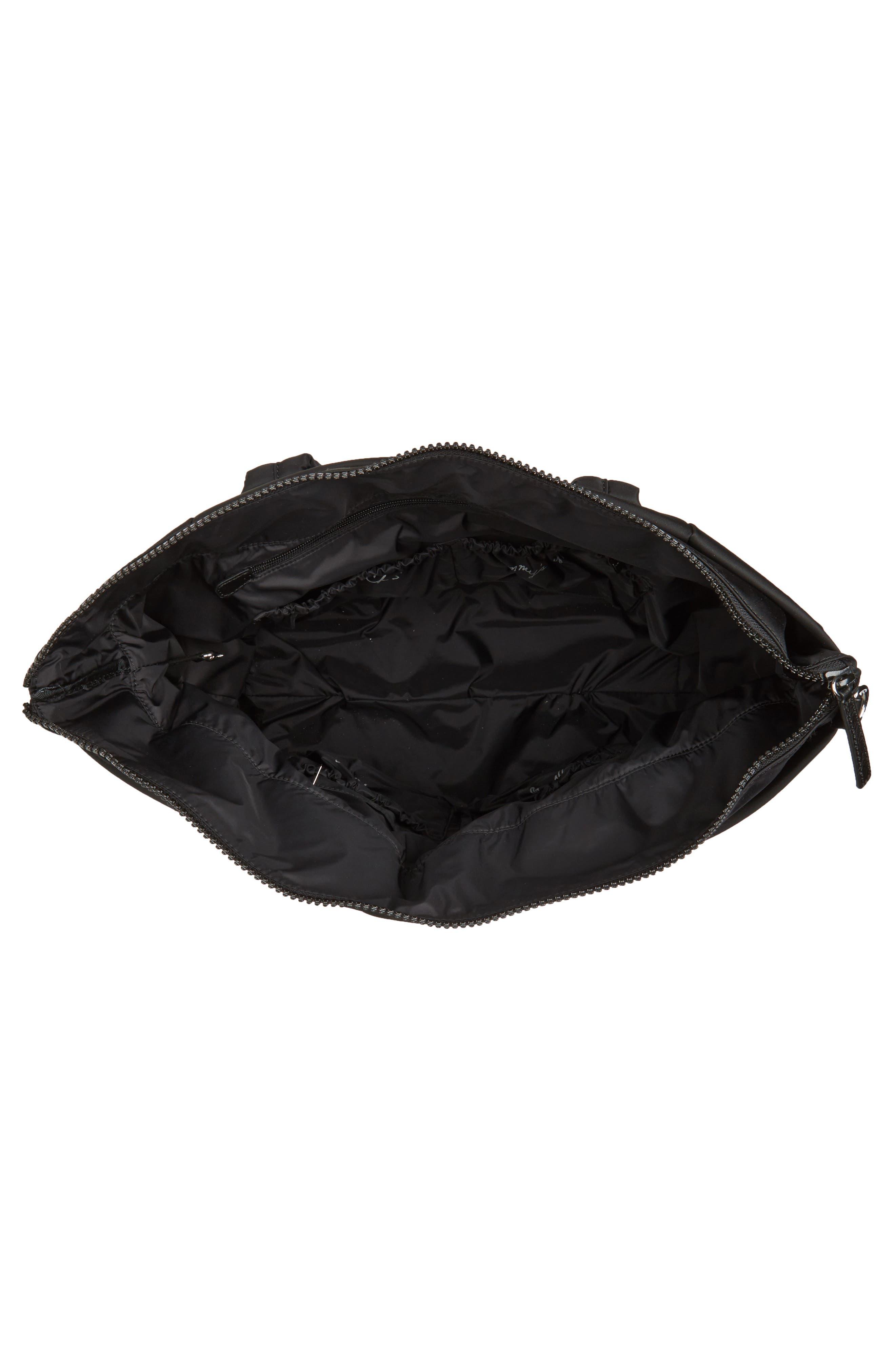 Ellie Nylon Diaper Bag,                             Alternate thumbnail 4, color,                             001