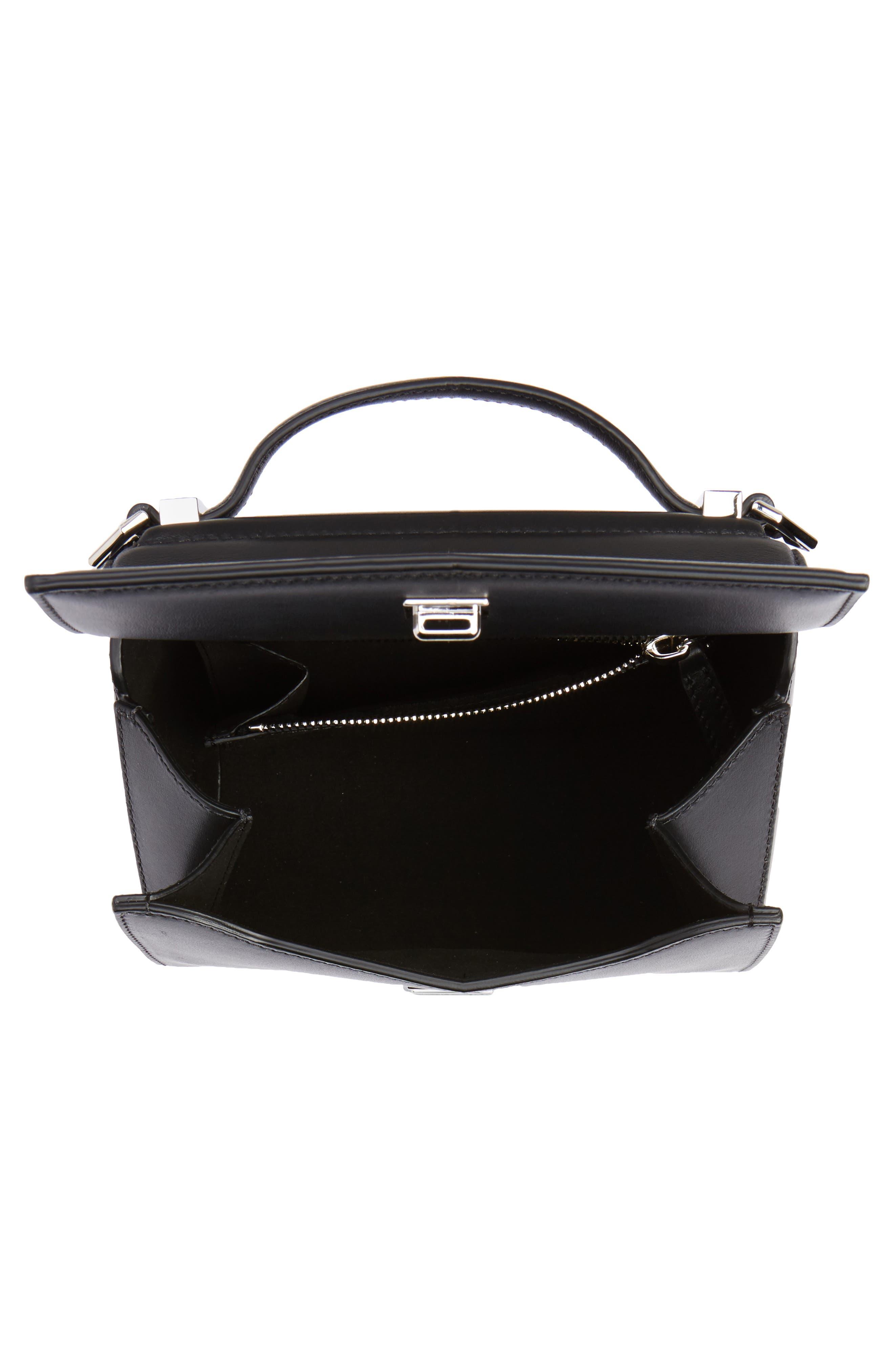 Mini Pandora Box Leather Shoulder Bag,                             Alternate thumbnail 5, color,                             001