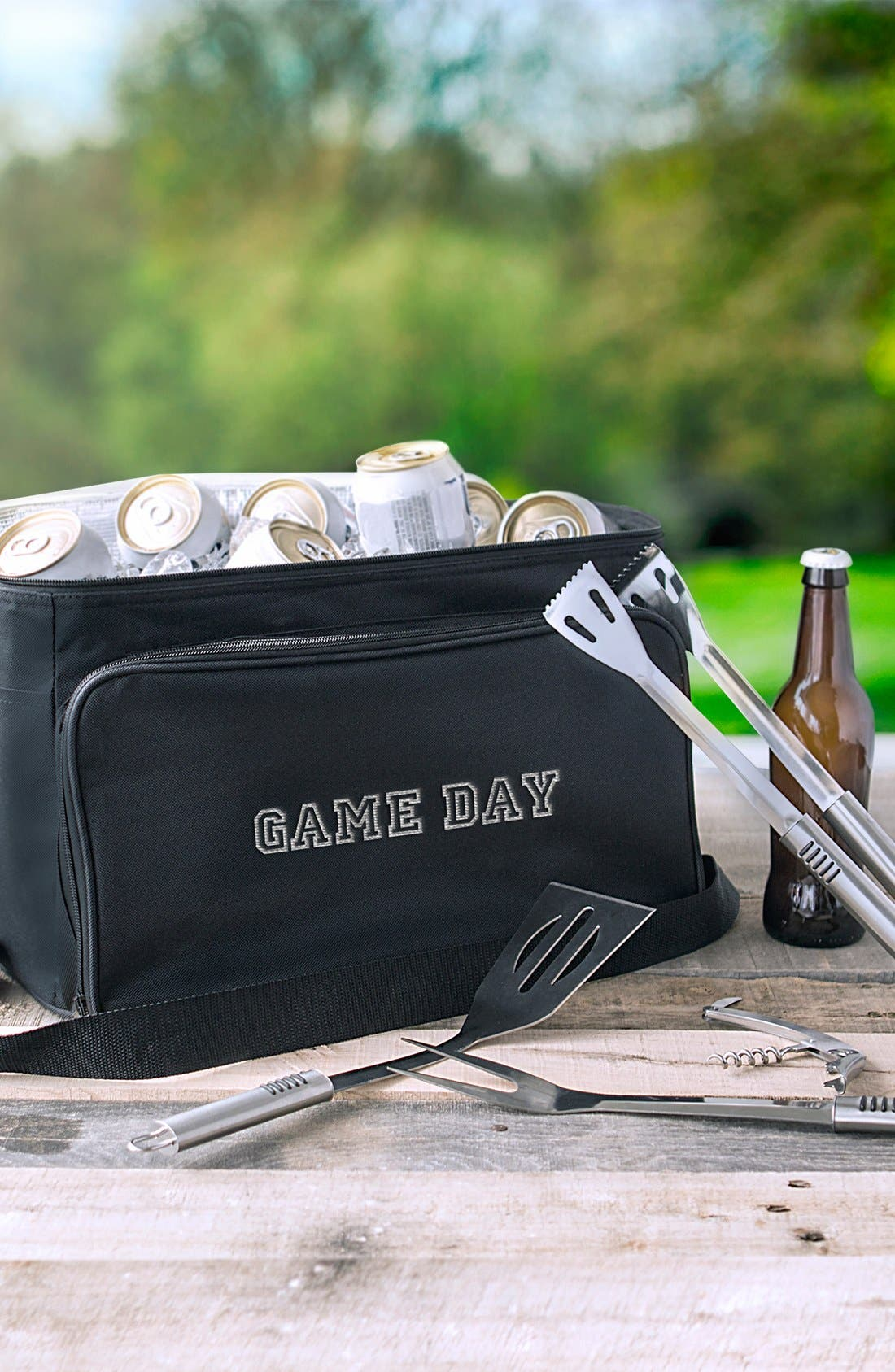 'Game Day' Cooler & BBQ Tool Set,                             Alternate thumbnail 6, color,                             001