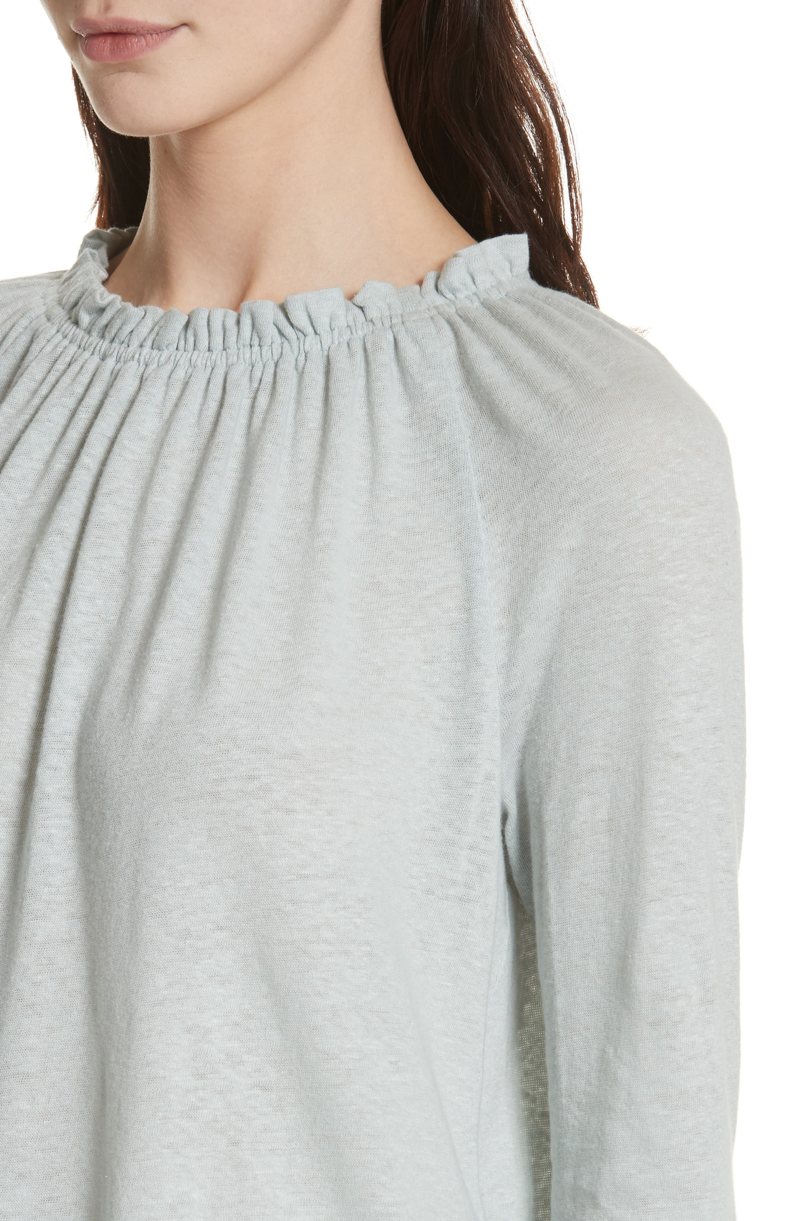 Texture Jersey Off the Shoulder Top,                             Alternate thumbnail 4, color,