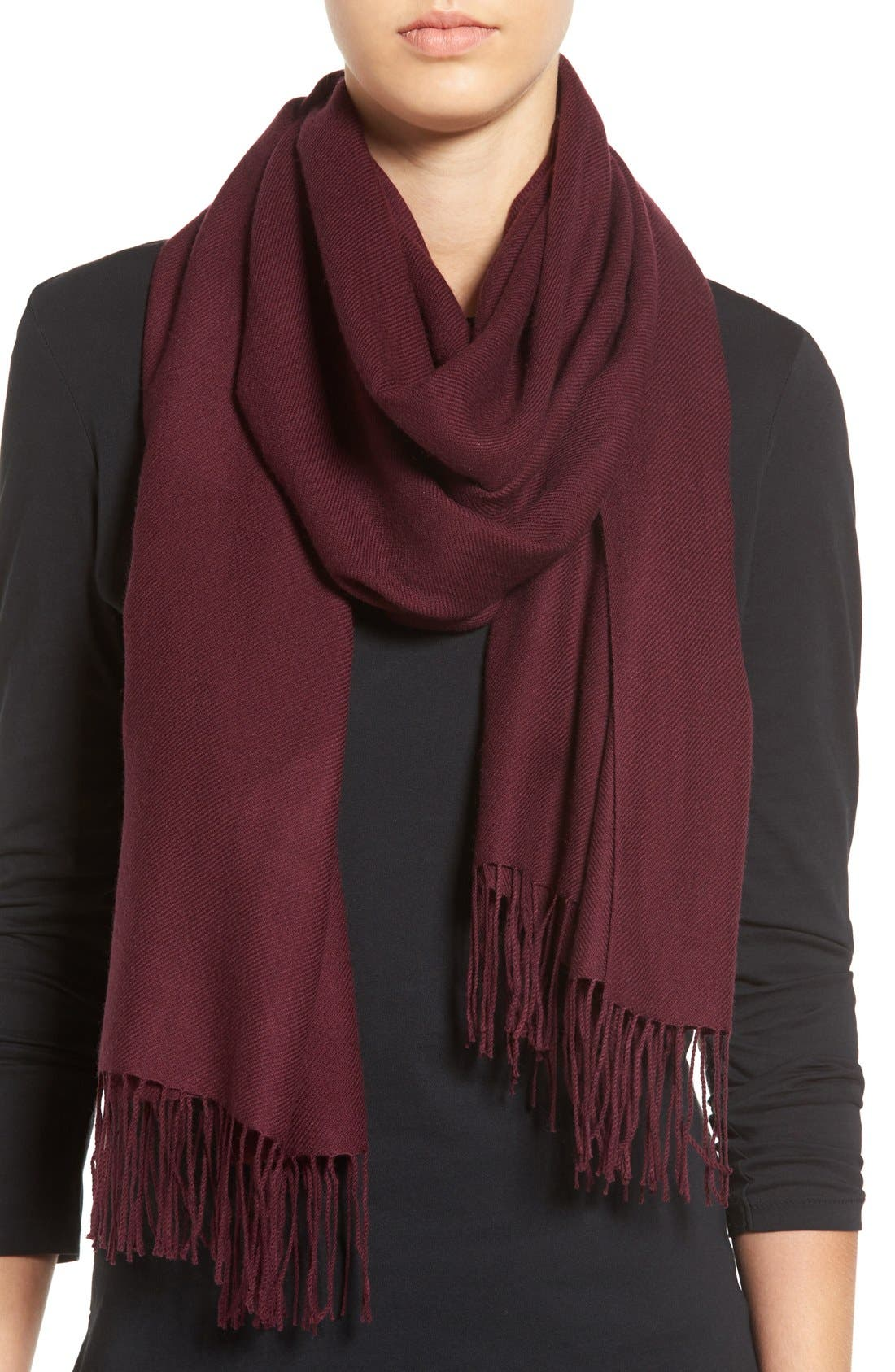 Tissue Weight Wool & Cashmere Scarf,                             Main thumbnail 70, color,