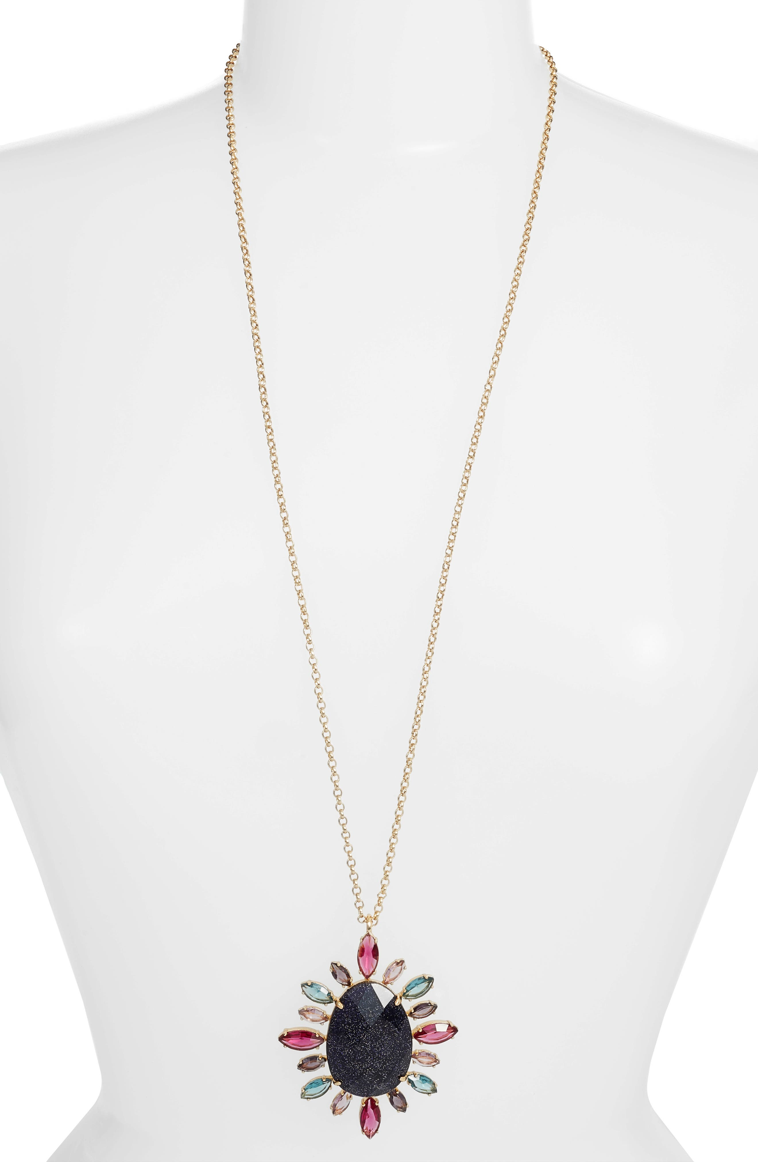 night sky pendant necklace,                         Main,                         color, 500