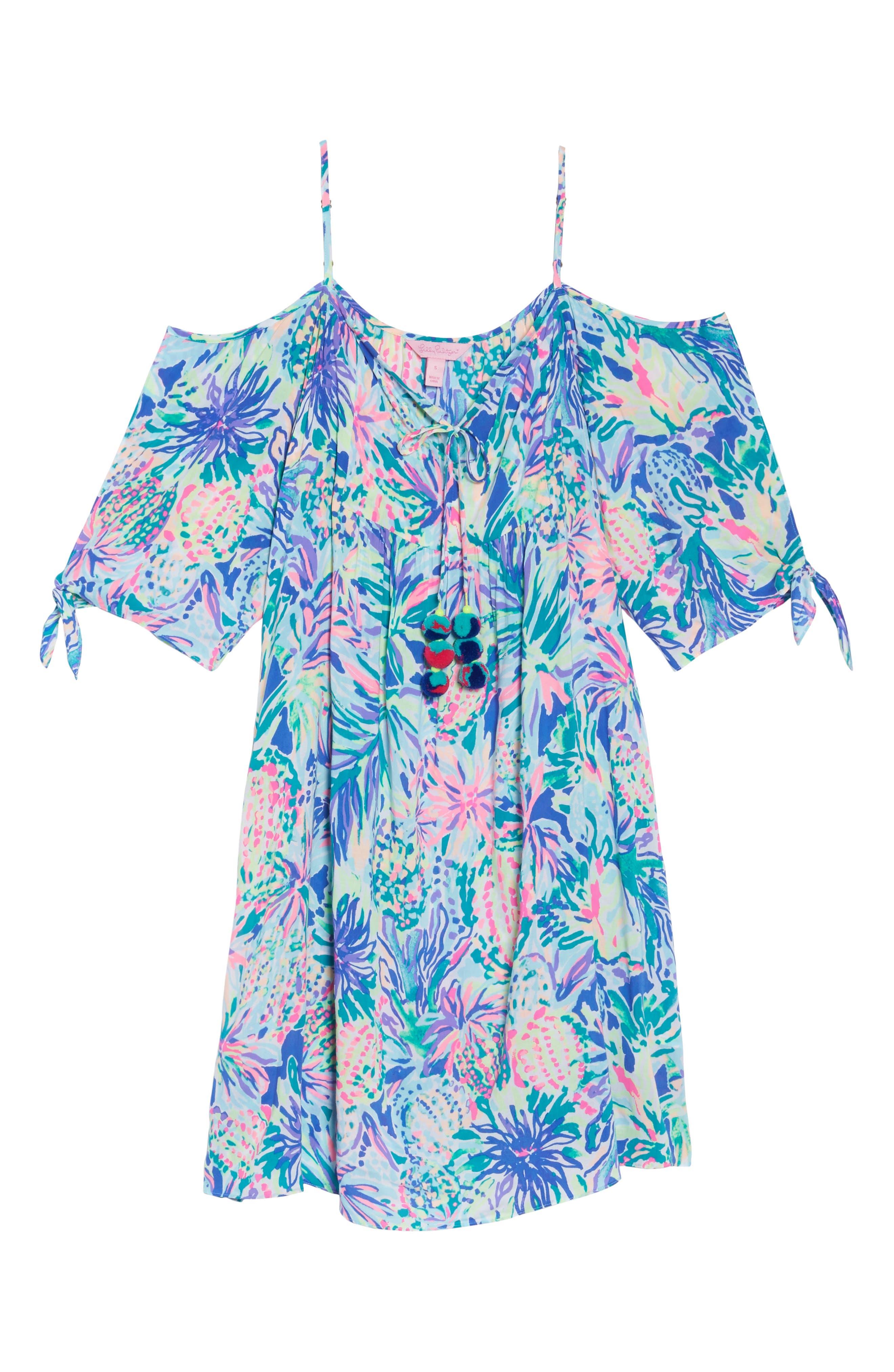 Alanna Cold Shoulder Dress,                             Alternate thumbnail 6, color,                             449