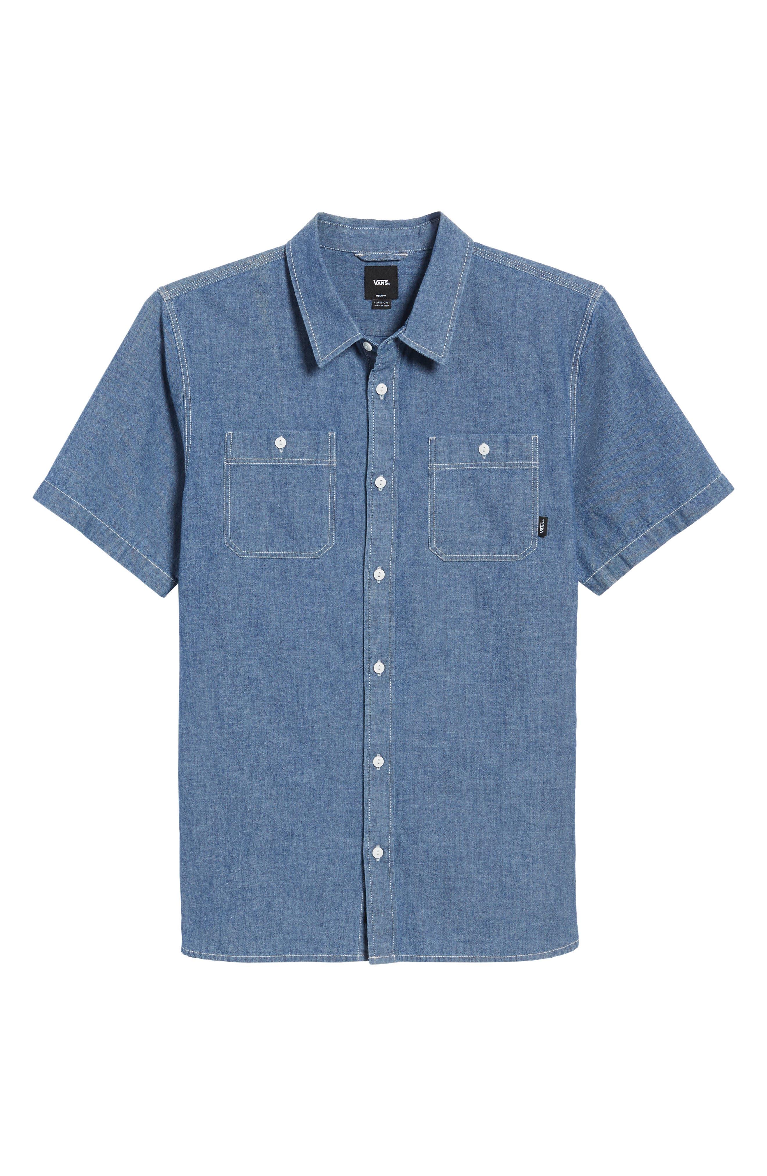 Carlow Chambray Woven Shirt,                             Alternate thumbnail 6, color,