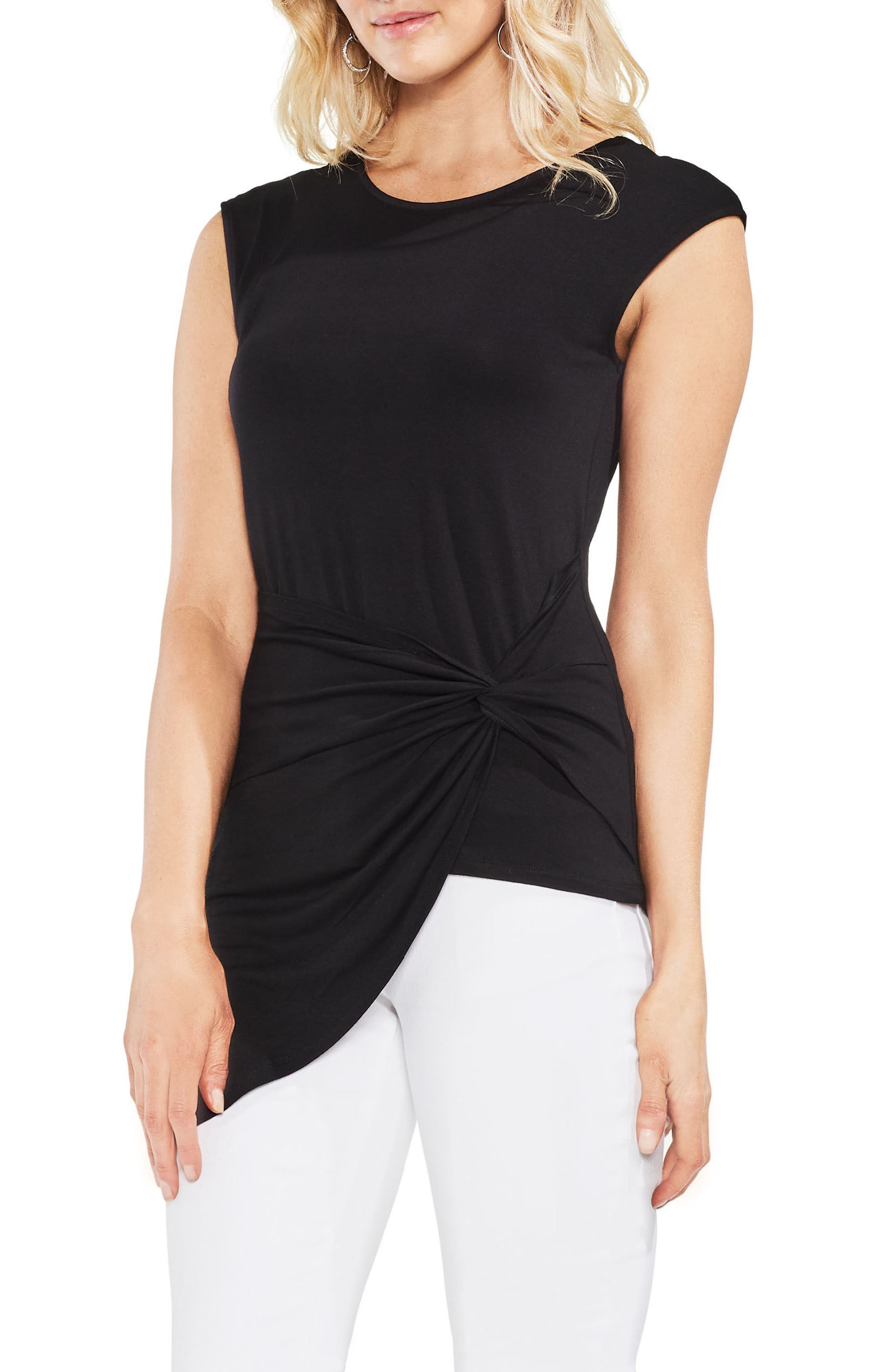 Twist Front Stretch Jersey Top,                         Main,                         color,