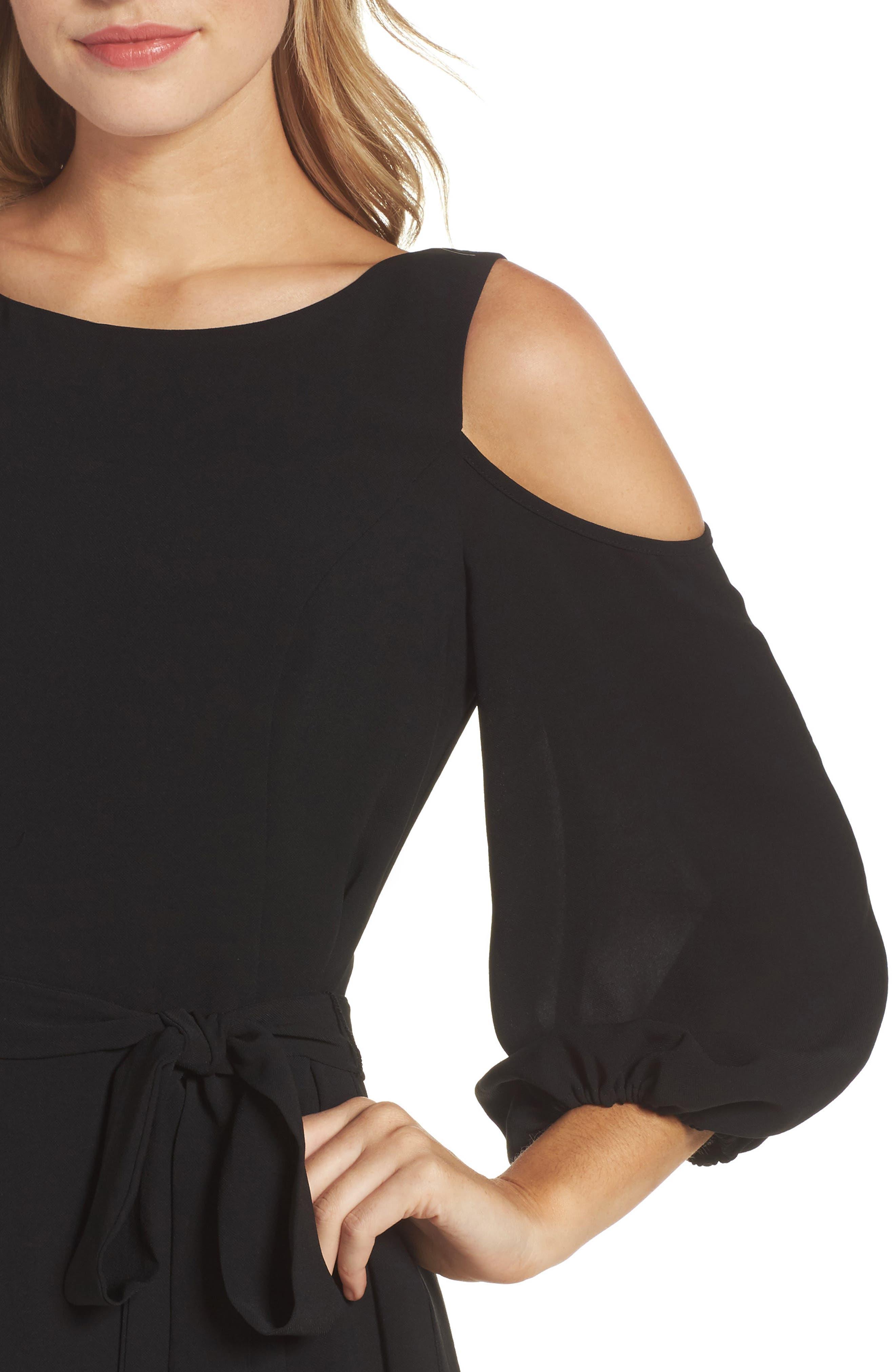 Cold Shoulder Dress,                             Alternate thumbnail 4, color,                             002