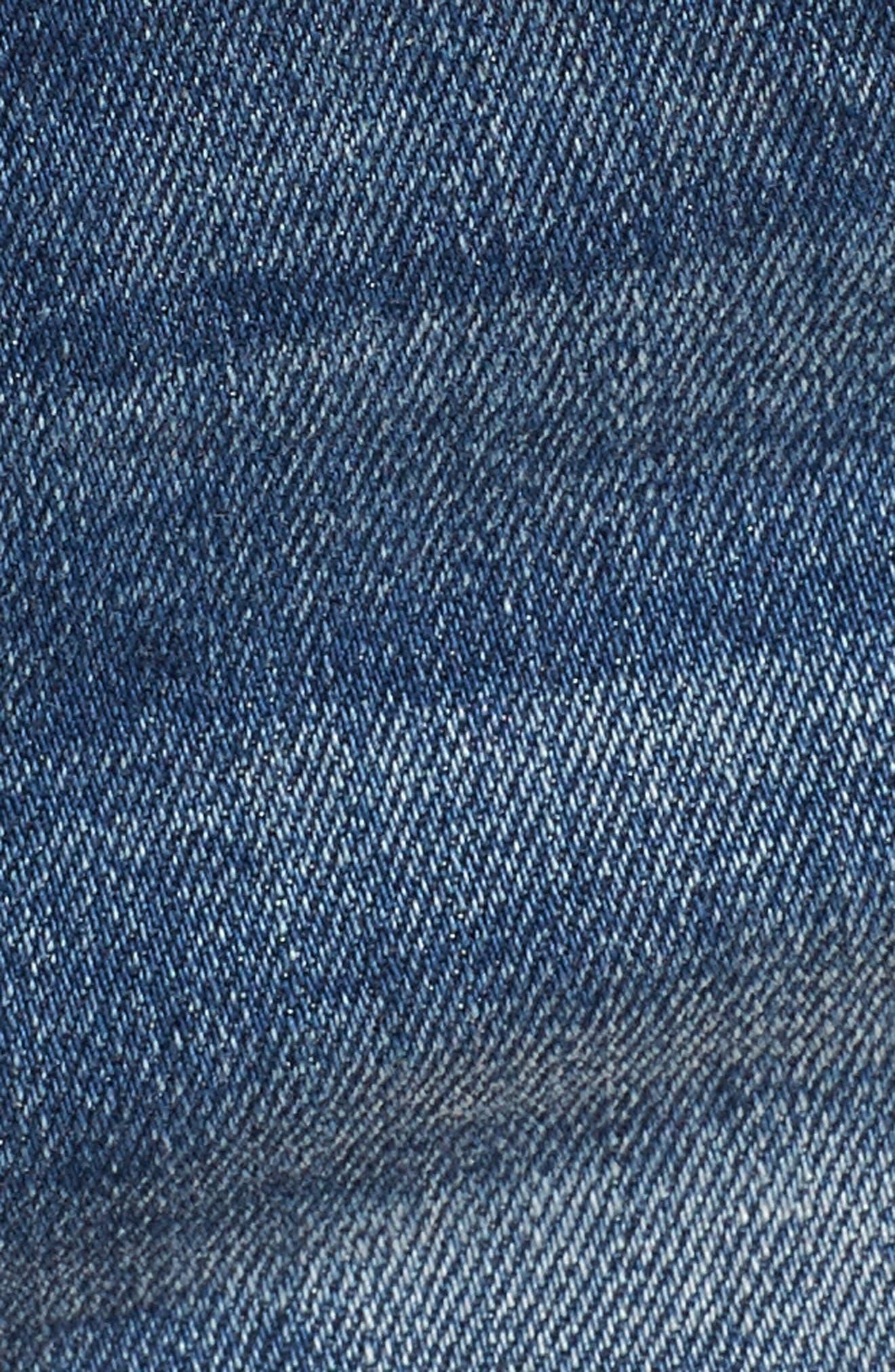 The Essex Distressed Denim Shorts,                             Alternate thumbnail 6, color,                             ALTER EGO