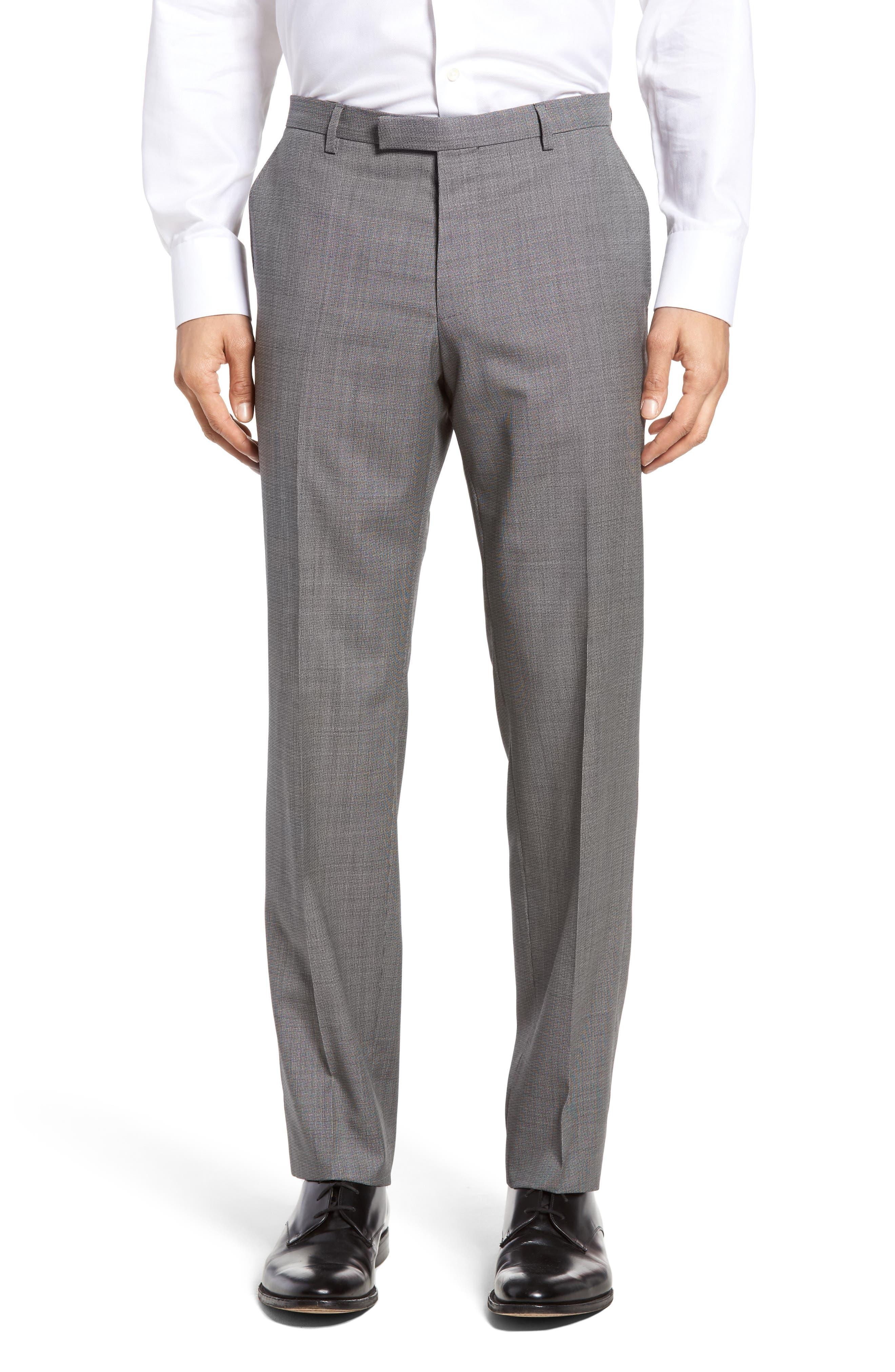 Janon/Lenon Trim Fit Solid Wool Suit,                             Alternate thumbnail 6, color,                             020