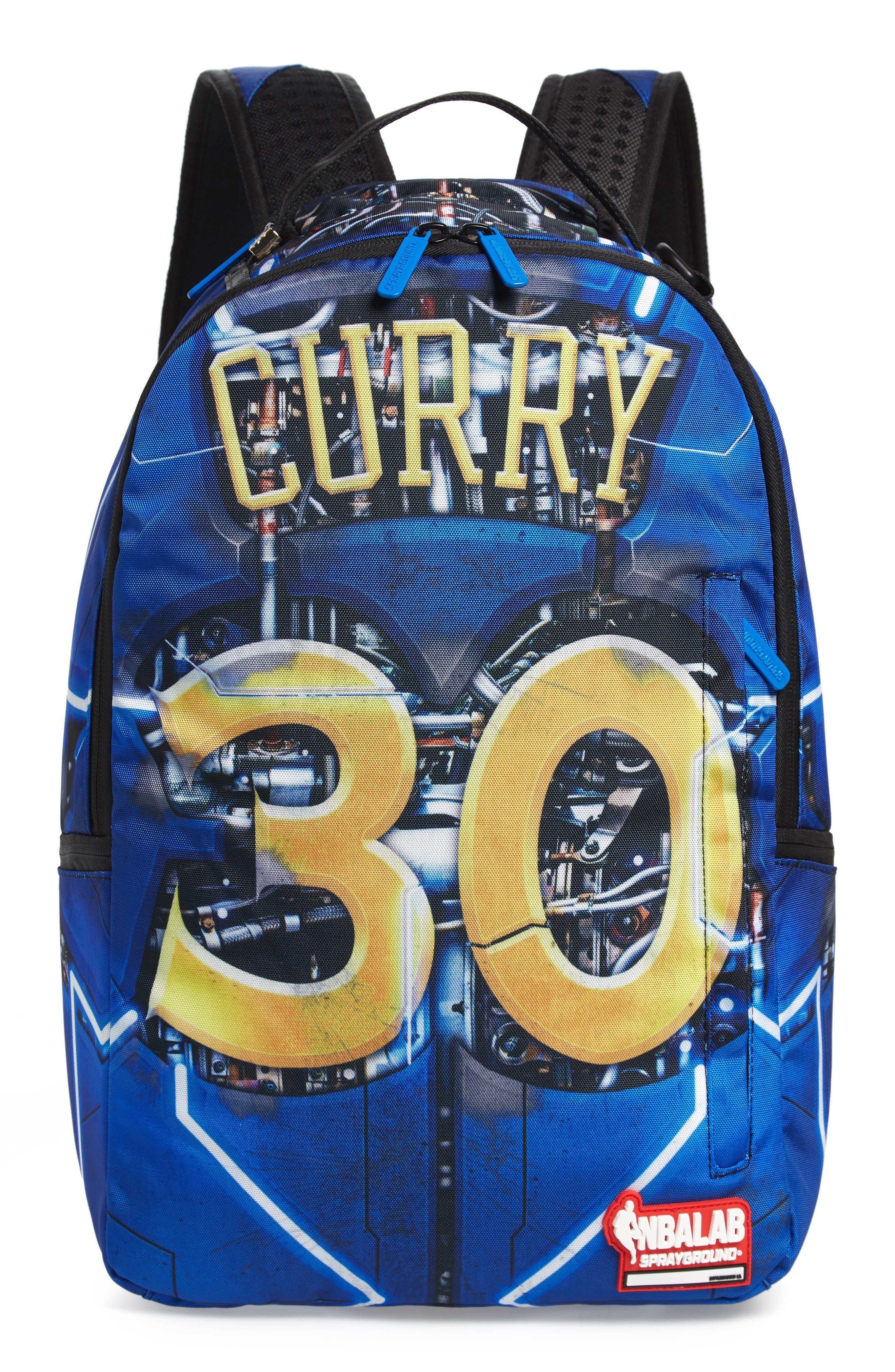 SPRAYGROUND,                             Curry Elysium Backpack,                             Main thumbnail 1, color,                             BLUE
