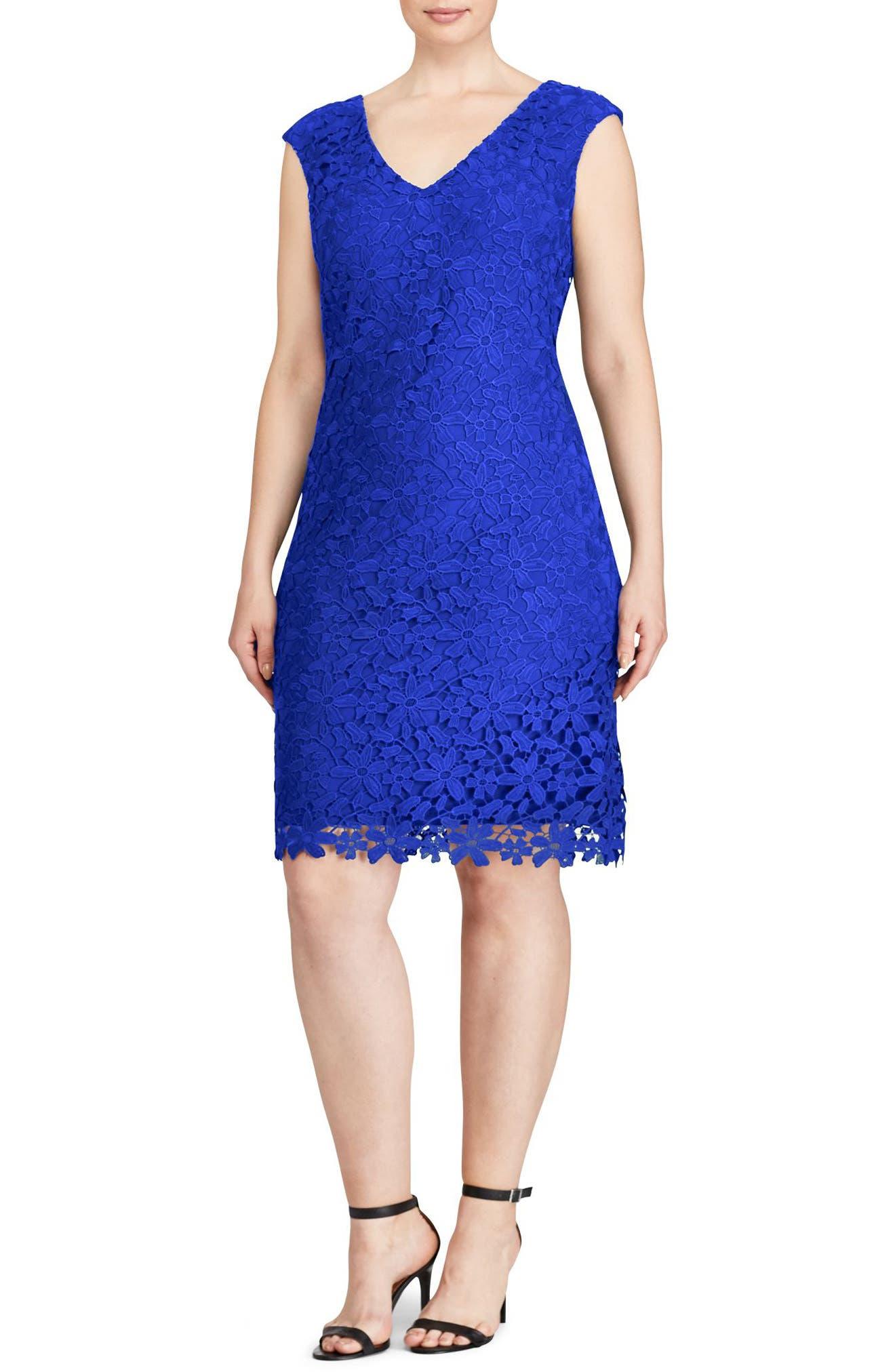 Montie Lace Sheath Dress,                             Alternate thumbnail 3, color,