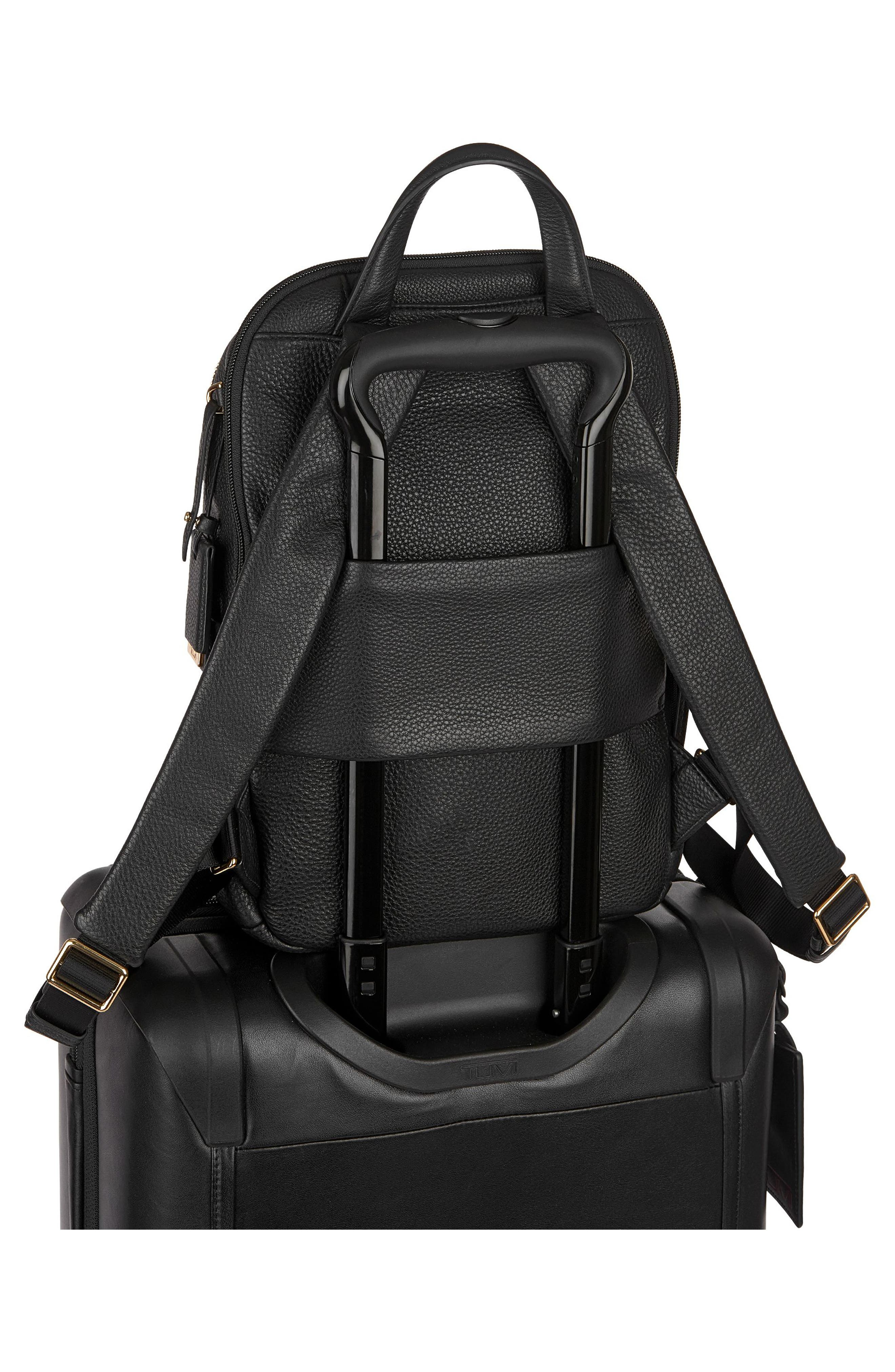 Voyageur - Small Daniella Leather Backpack,                             Alternate thumbnail 3, color,                             001