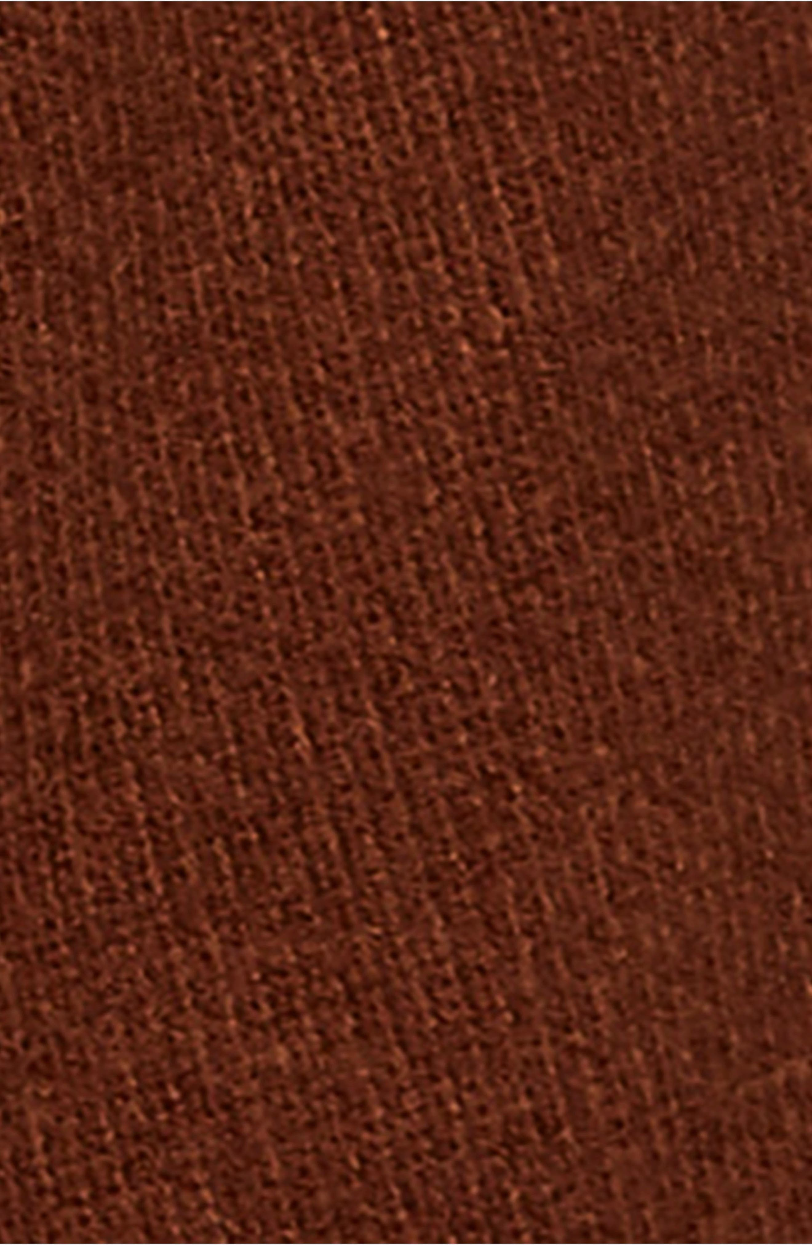 Softly Structured Knit Tunic,                             Alternate thumbnail 5, color,                             TERRACOTTA