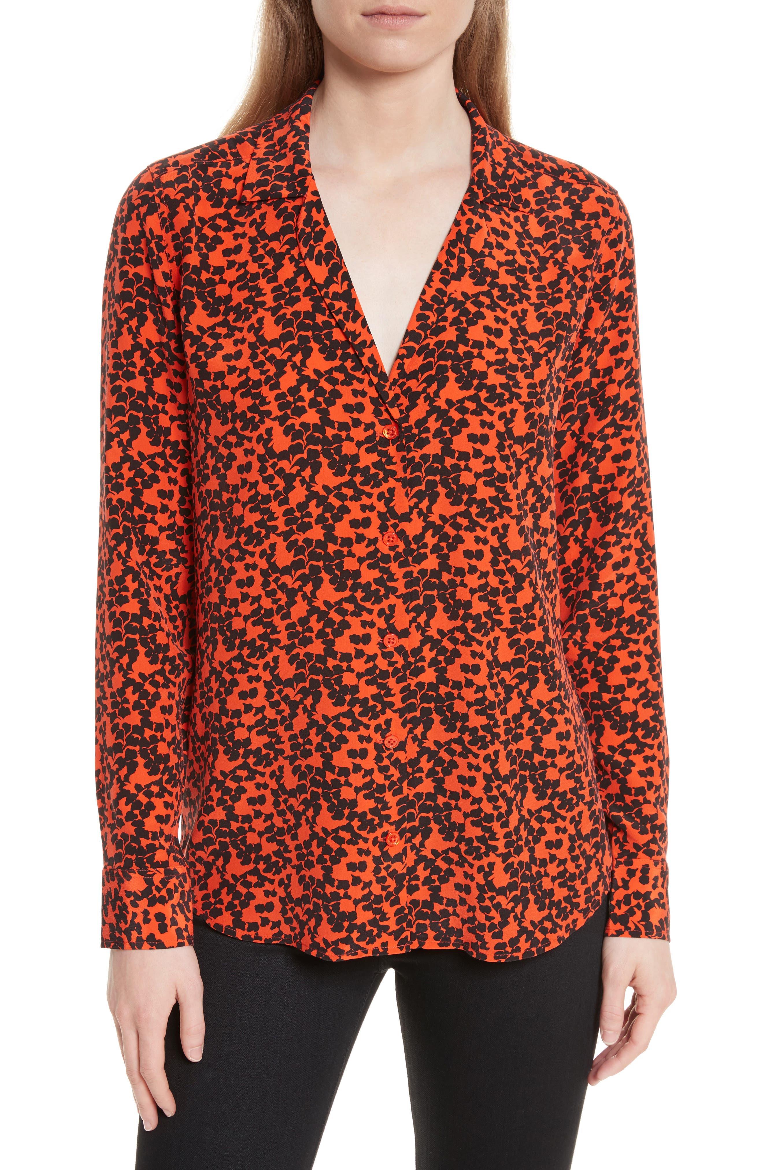 Adalyn Print Silk Blouse,                         Main,                         color,
