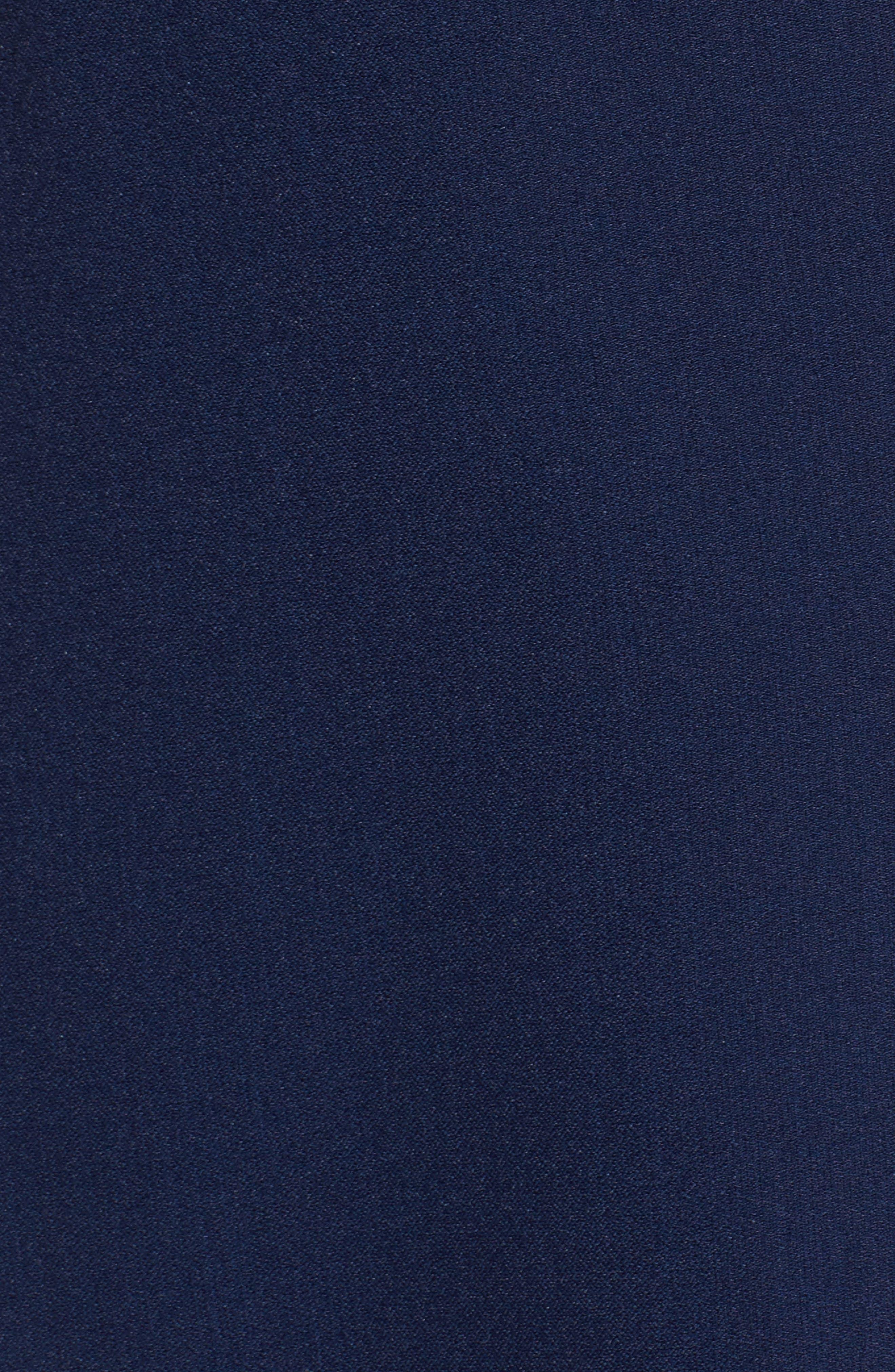 Stretch Crepe A-Line Dress,                             Alternate thumbnail 5, color,                             413