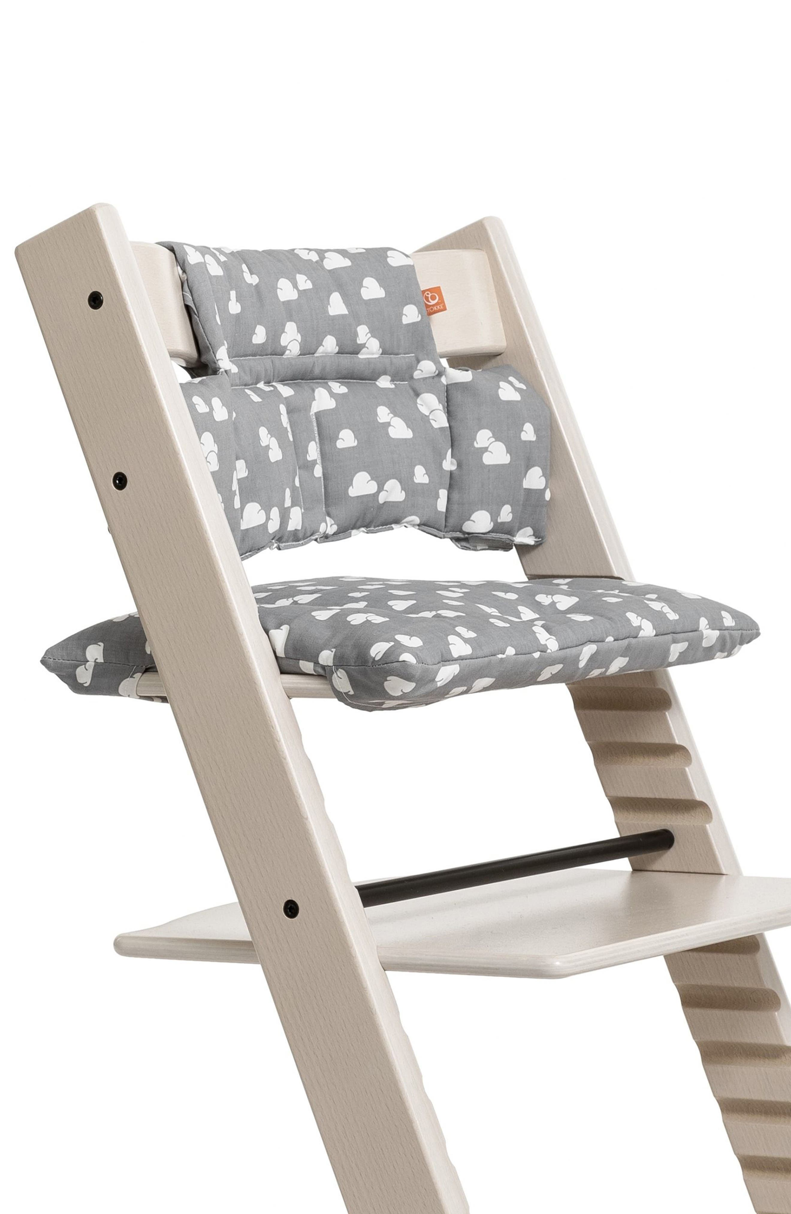 Seat Cushion for Tripp Trapp<sup>®</sup> Chair,                             Alternate thumbnail 3, color,                             GREY CLOUDS