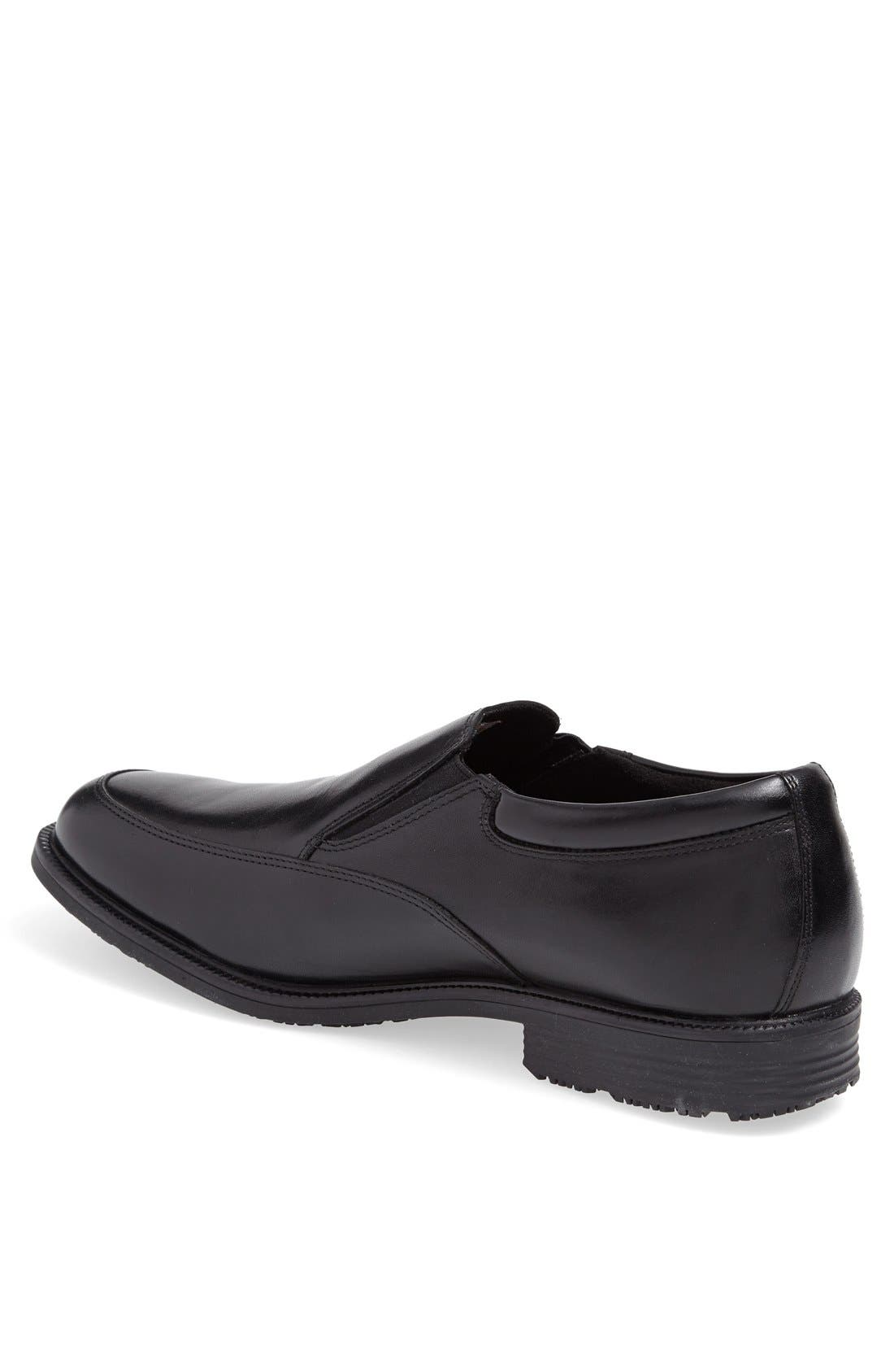 'Essential Details' Waterproof Loafer,                             Alternate thumbnail 4, color,                             BLACK