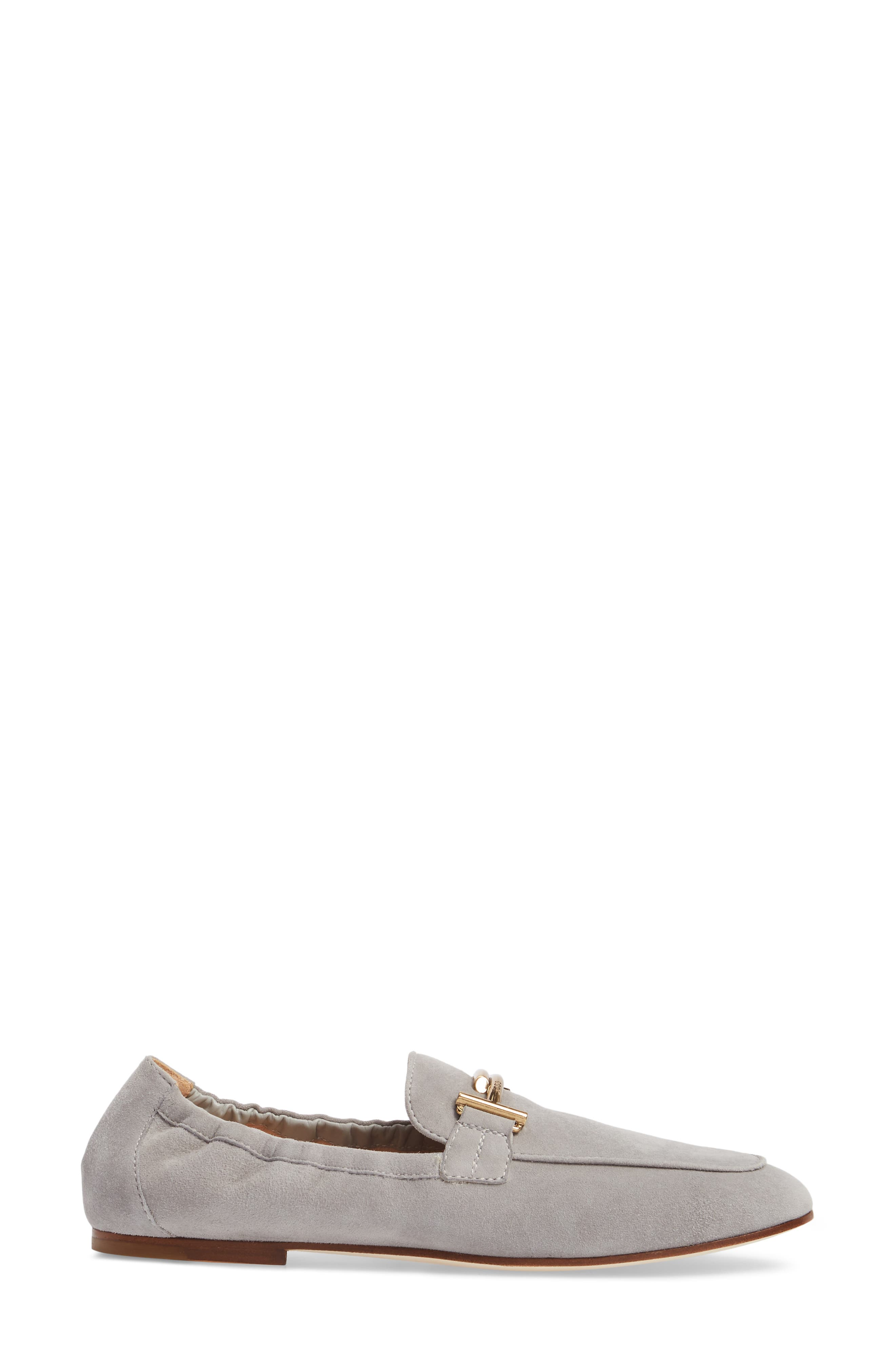 Double T Scrunch Loafer,                             Alternate thumbnail 3, color,                             020
