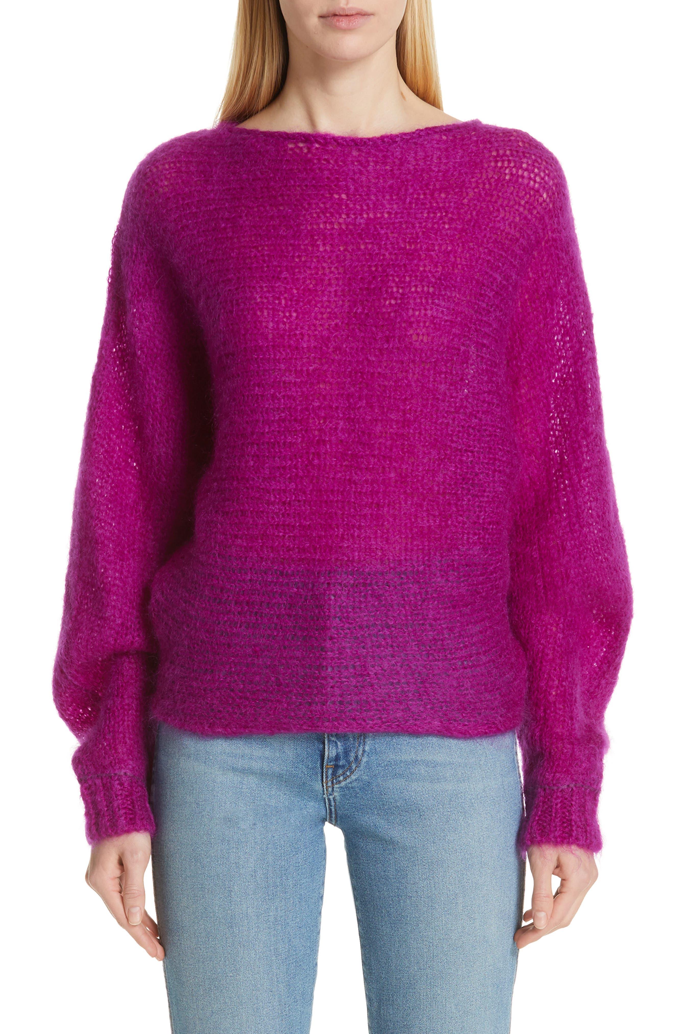 Simon Miller Fay Mohair & Wool Sweater, Purple