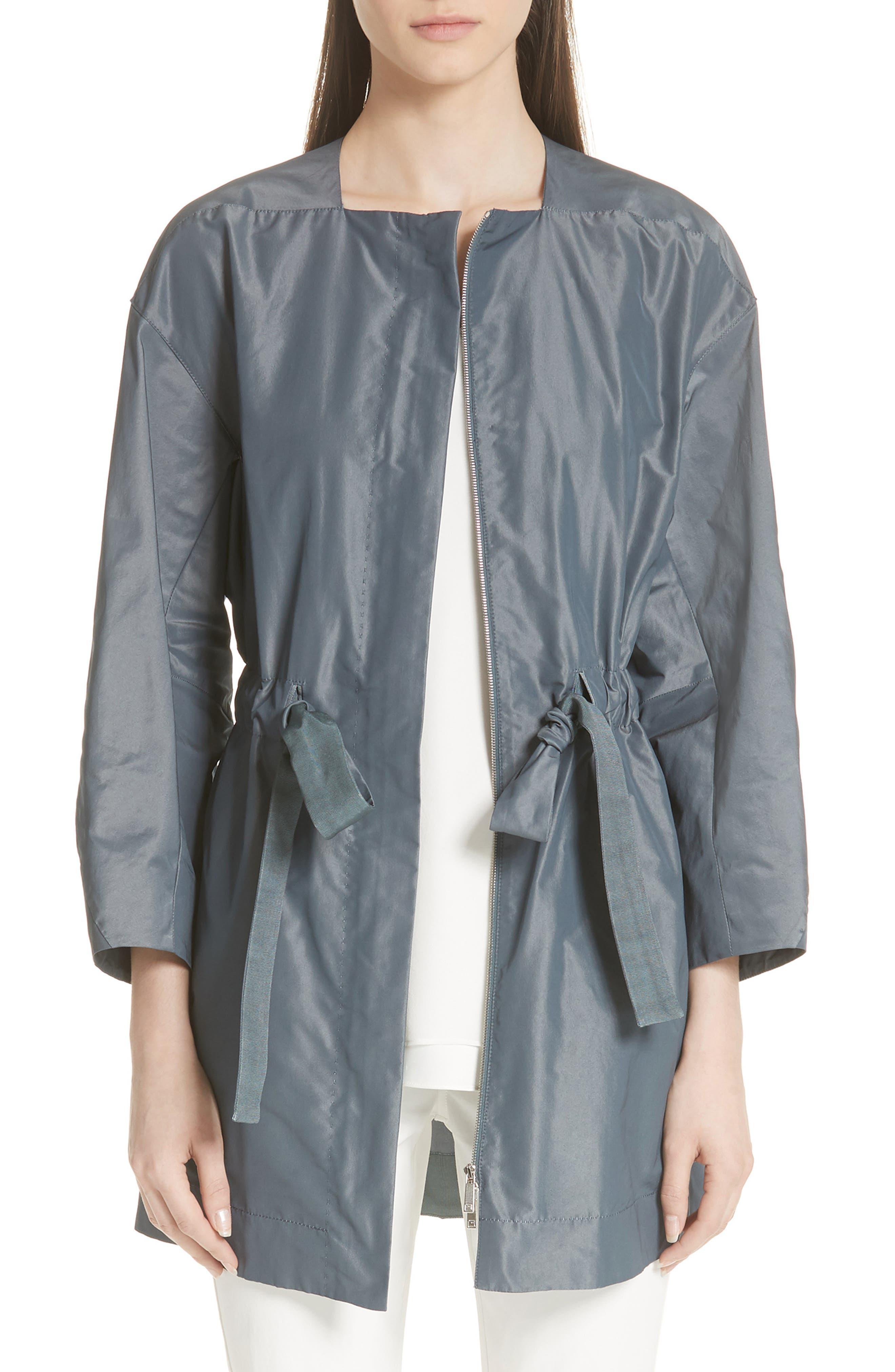 Stephania Jacket,                         Main,                         color, PORT BLUE IRIDESCENT