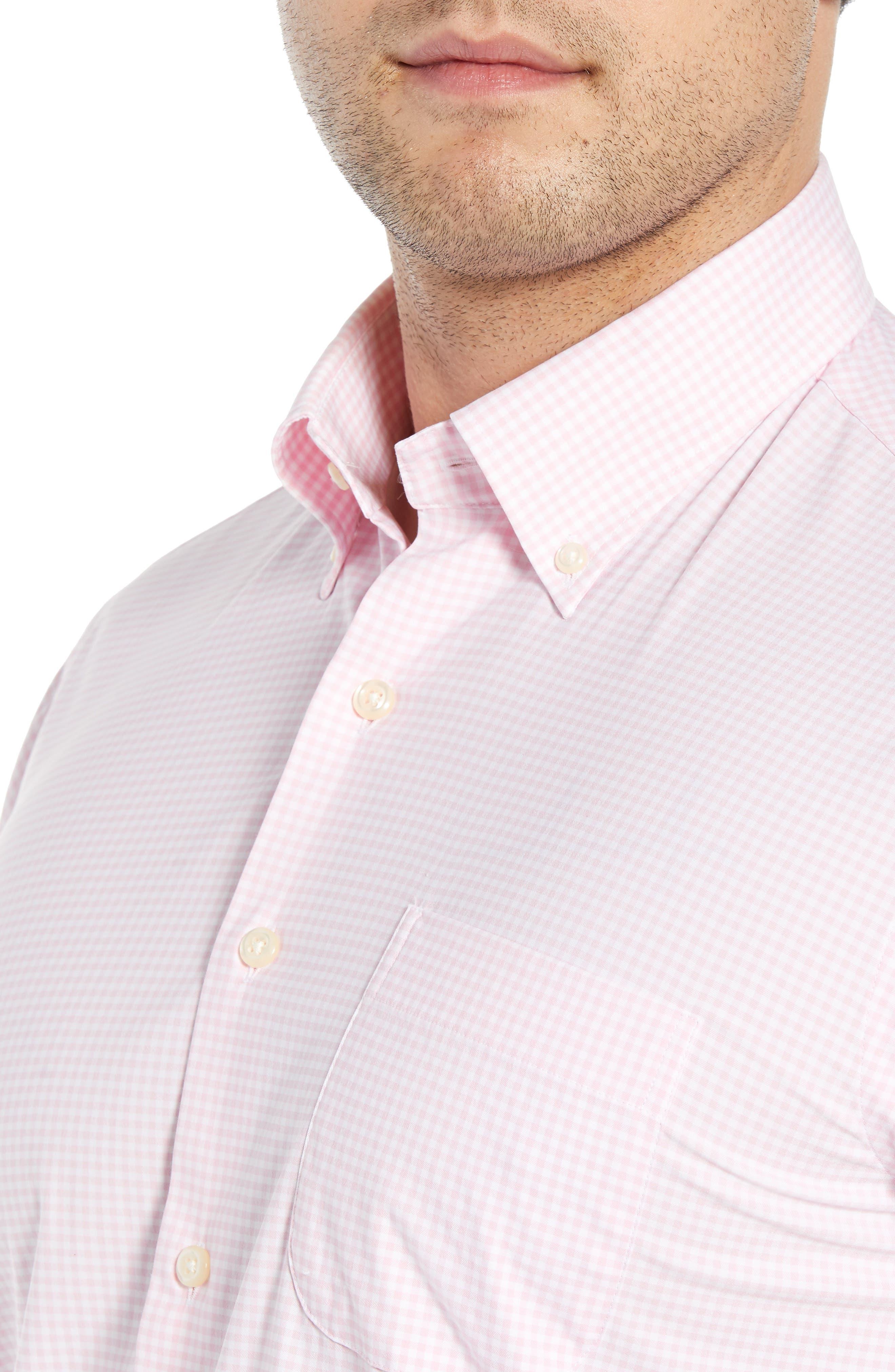 Check Performance Sport Shirt,                             Alternate thumbnail 2, color,                             PALMER PINK