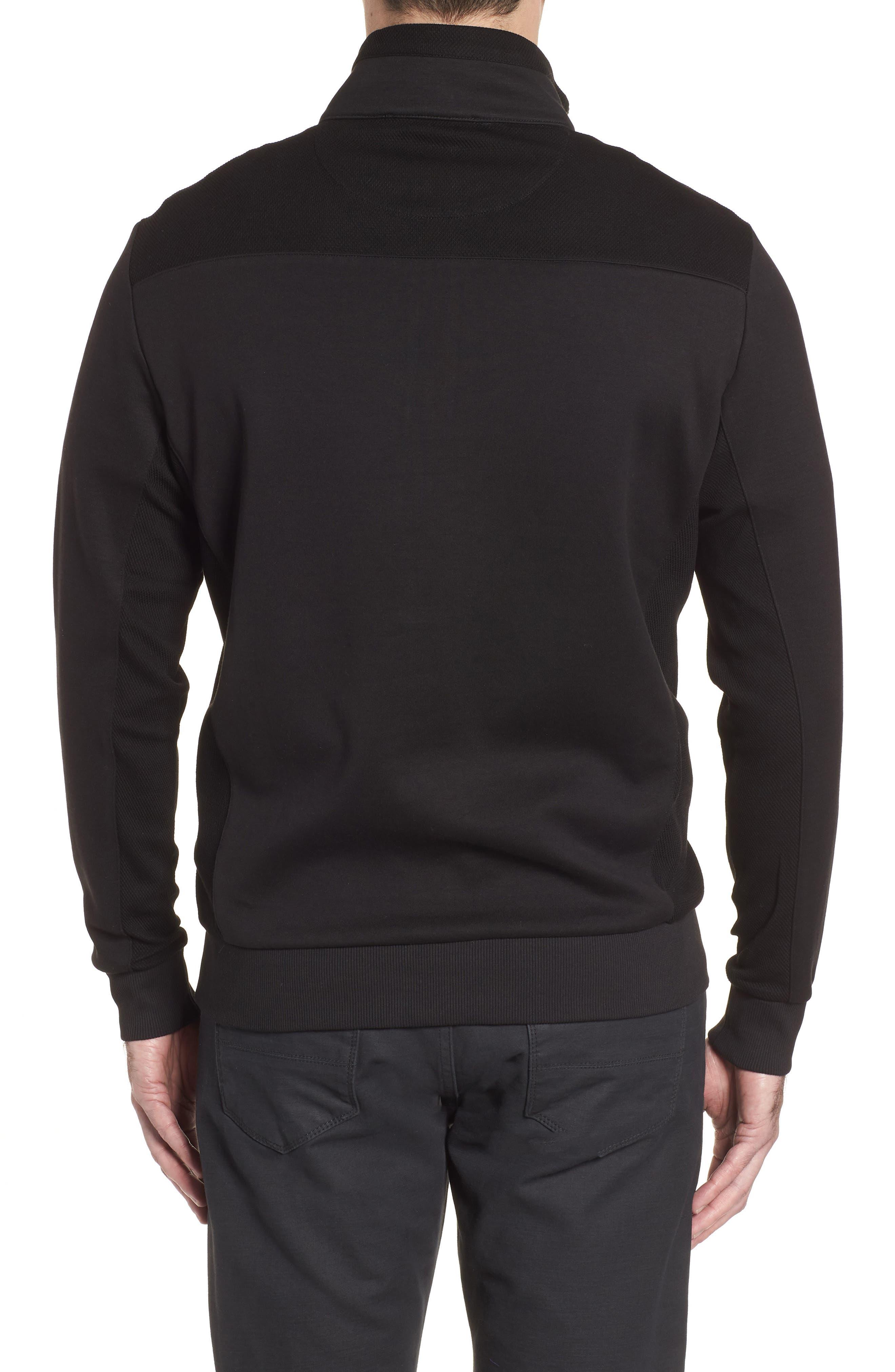 Regular Fit Knit Quarter Zip Pullover,                             Alternate thumbnail 2, color,                             001