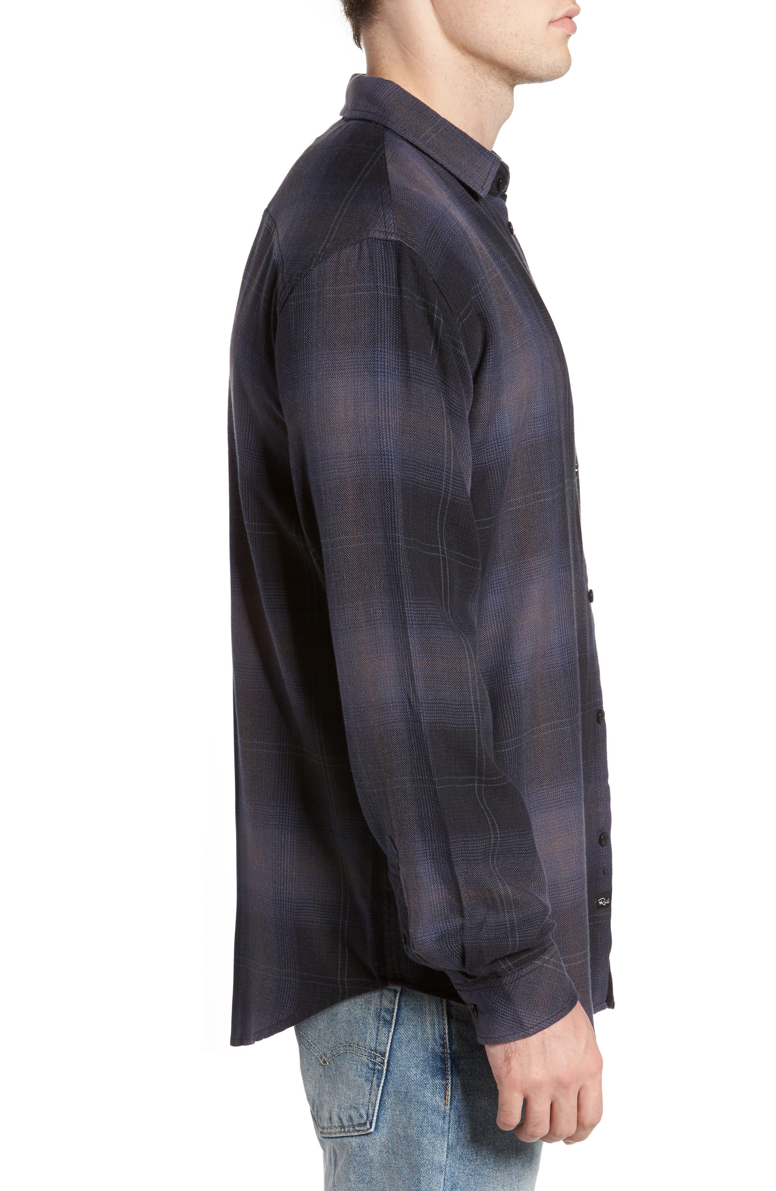 Lennox Sport Shirt,                             Alternate thumbnail 3, color,                             CHARCOAL/ BLACK