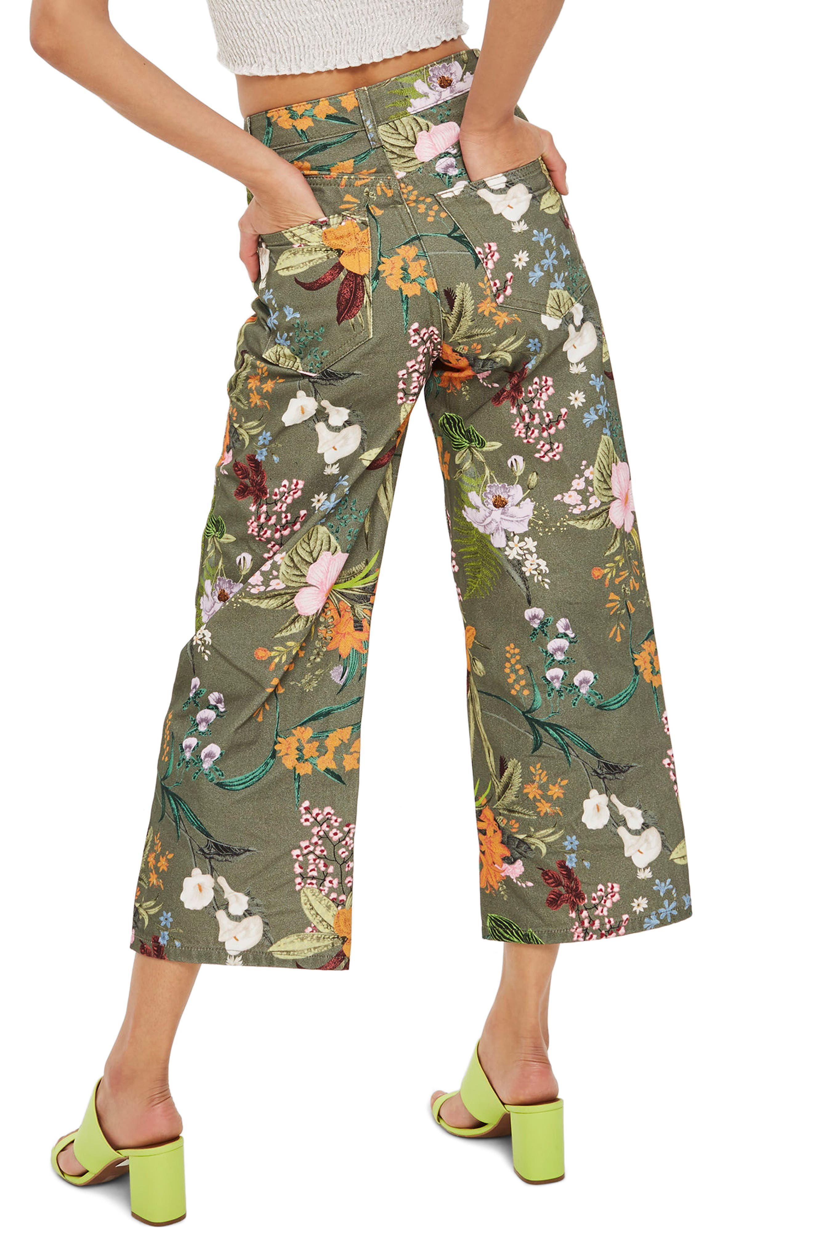 Tropical Floral Jeans,                             Alternate thumbnail 2, color,