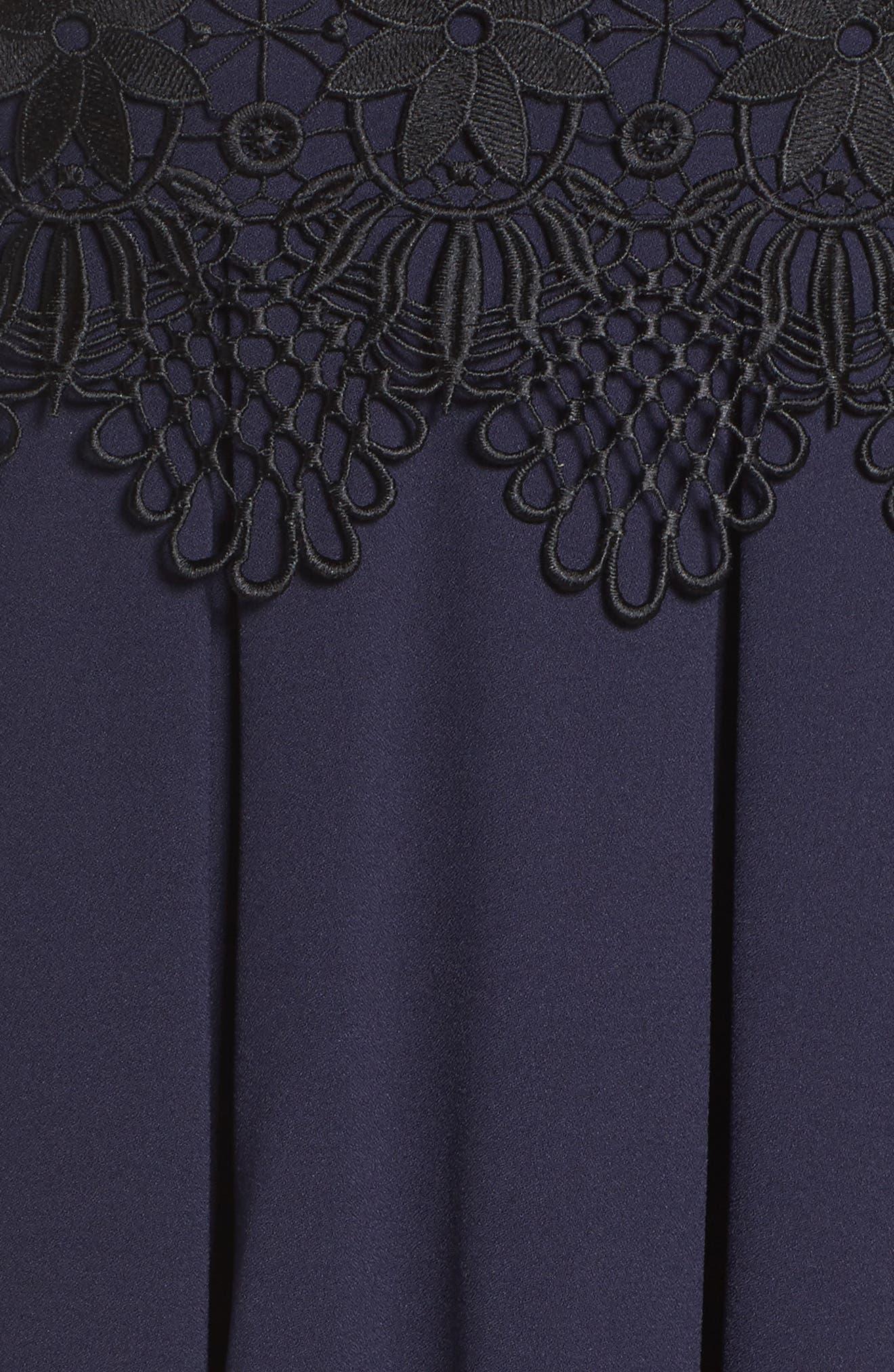 Lace Detail A-Line Dress,                             Alternate thumbnail 5, color,                             488